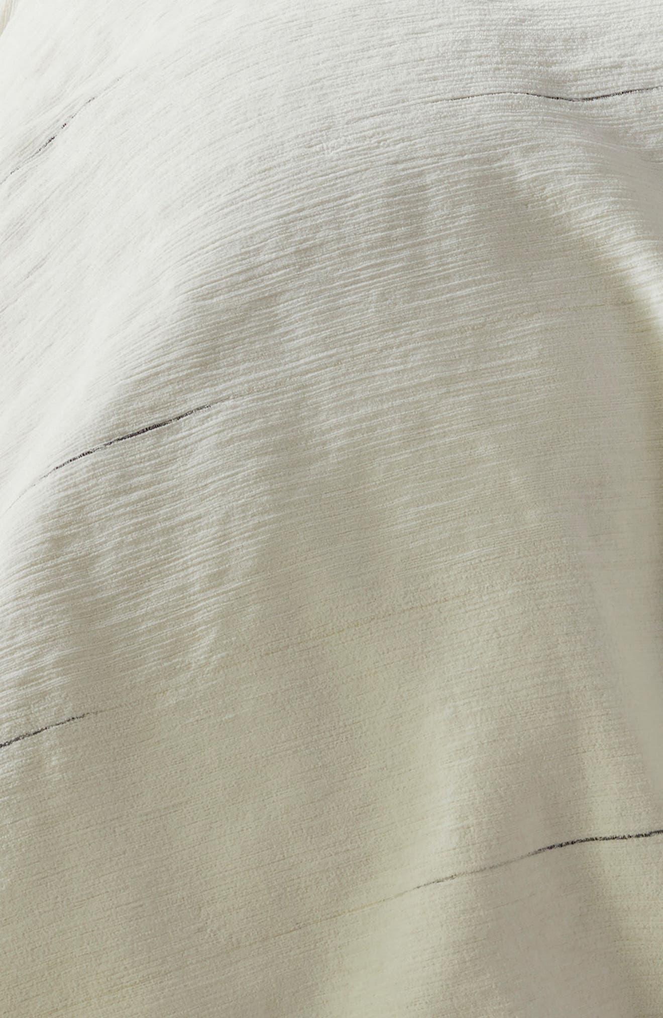 Space Dyed Stripe Duvet Cover,                             Alternate thumbnail 3, color,                             IVORY MULTI