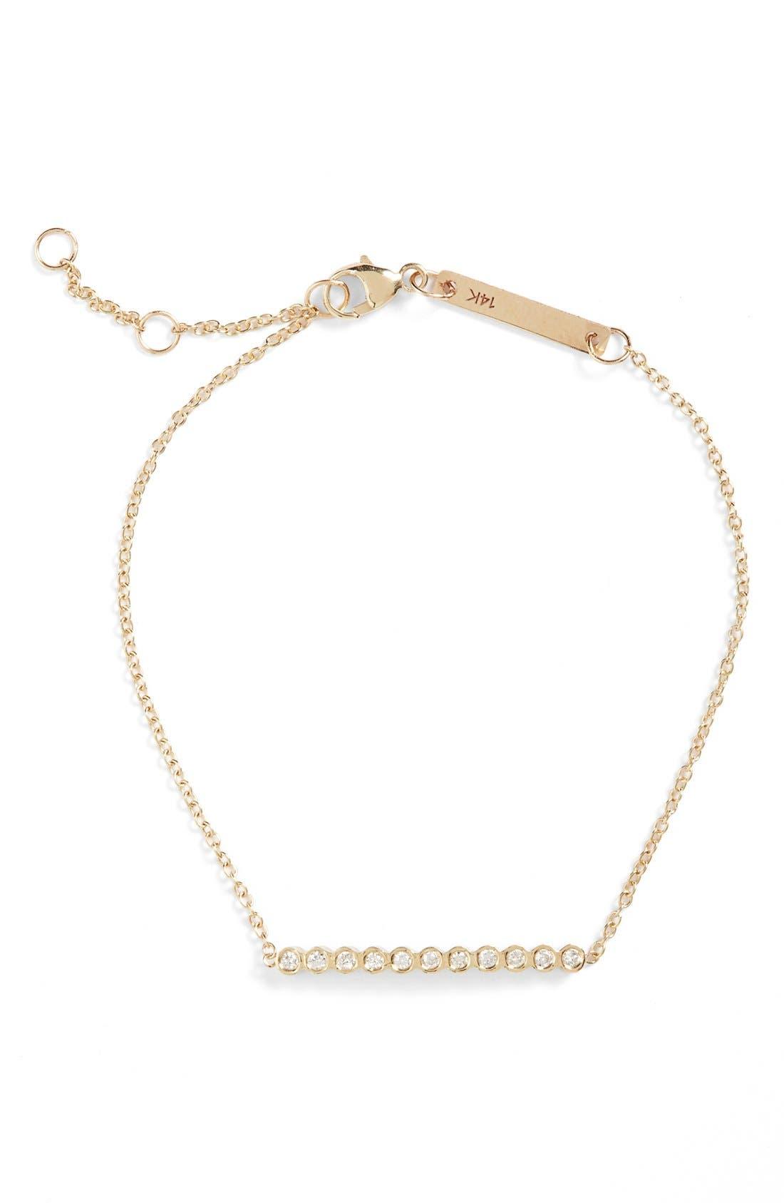 Diamond Bar Bracelet,                         Main,                         color, YELLOW GOLD