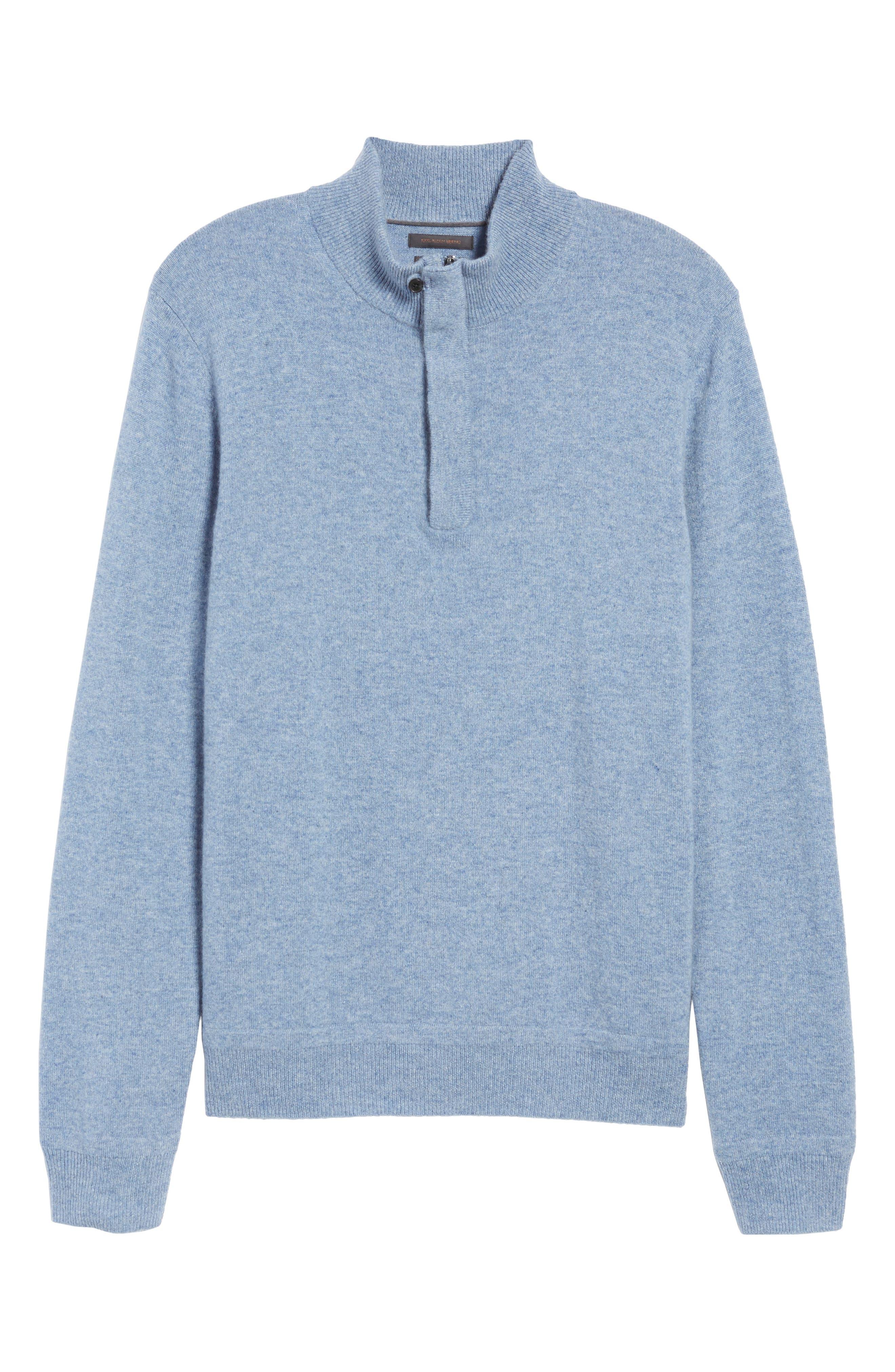 Cashmere Quarter Zip Sweater,                             Alternate thumbnail 35, color,