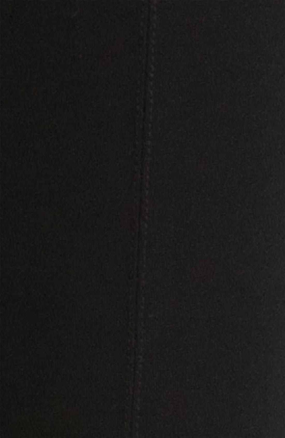 Center Seam Ponte Leggings,                             Alternate thumbnail 8, color,                             BLACK