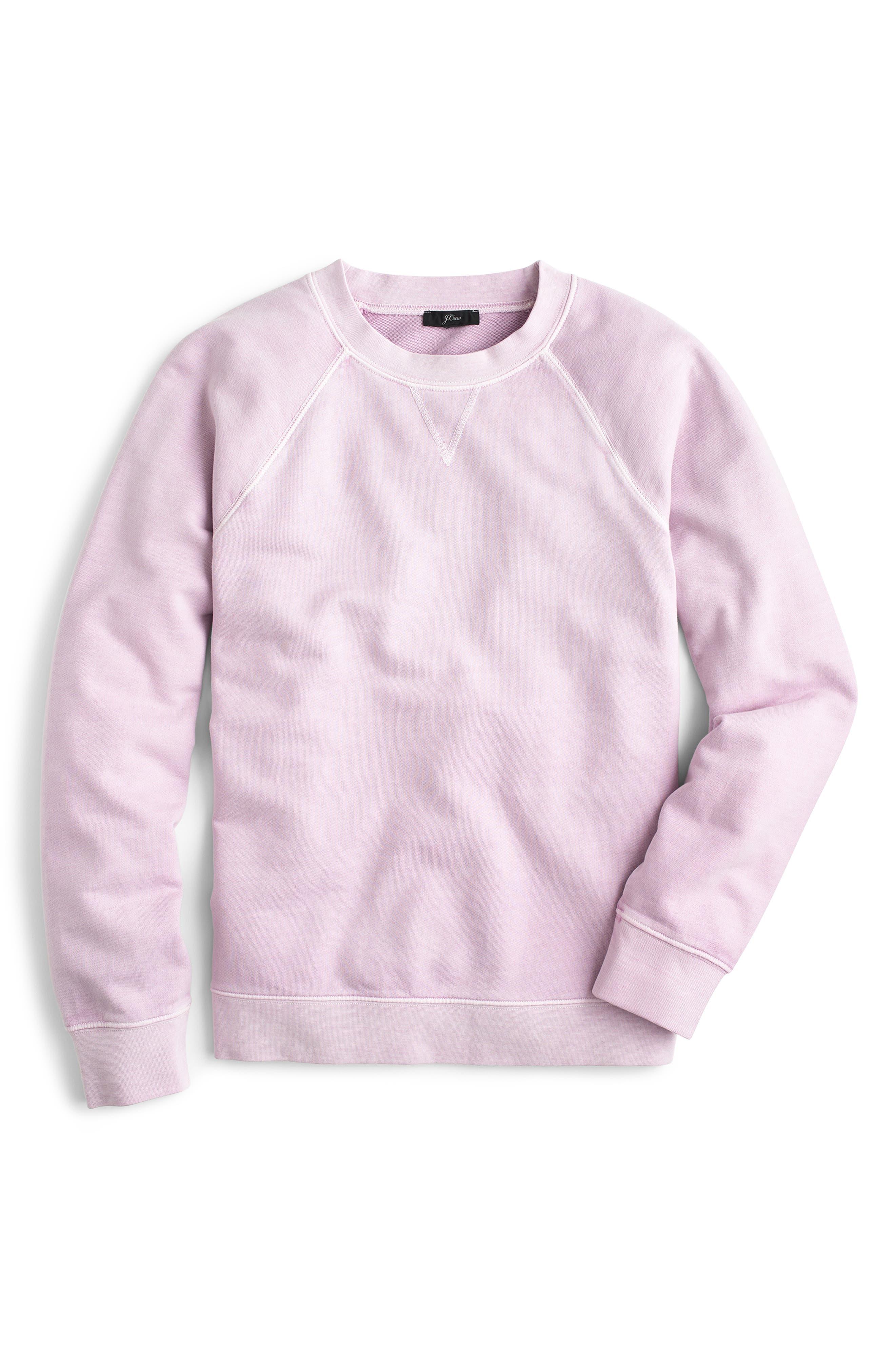 J.crew Garment Dyed Sweatshirt, Purple