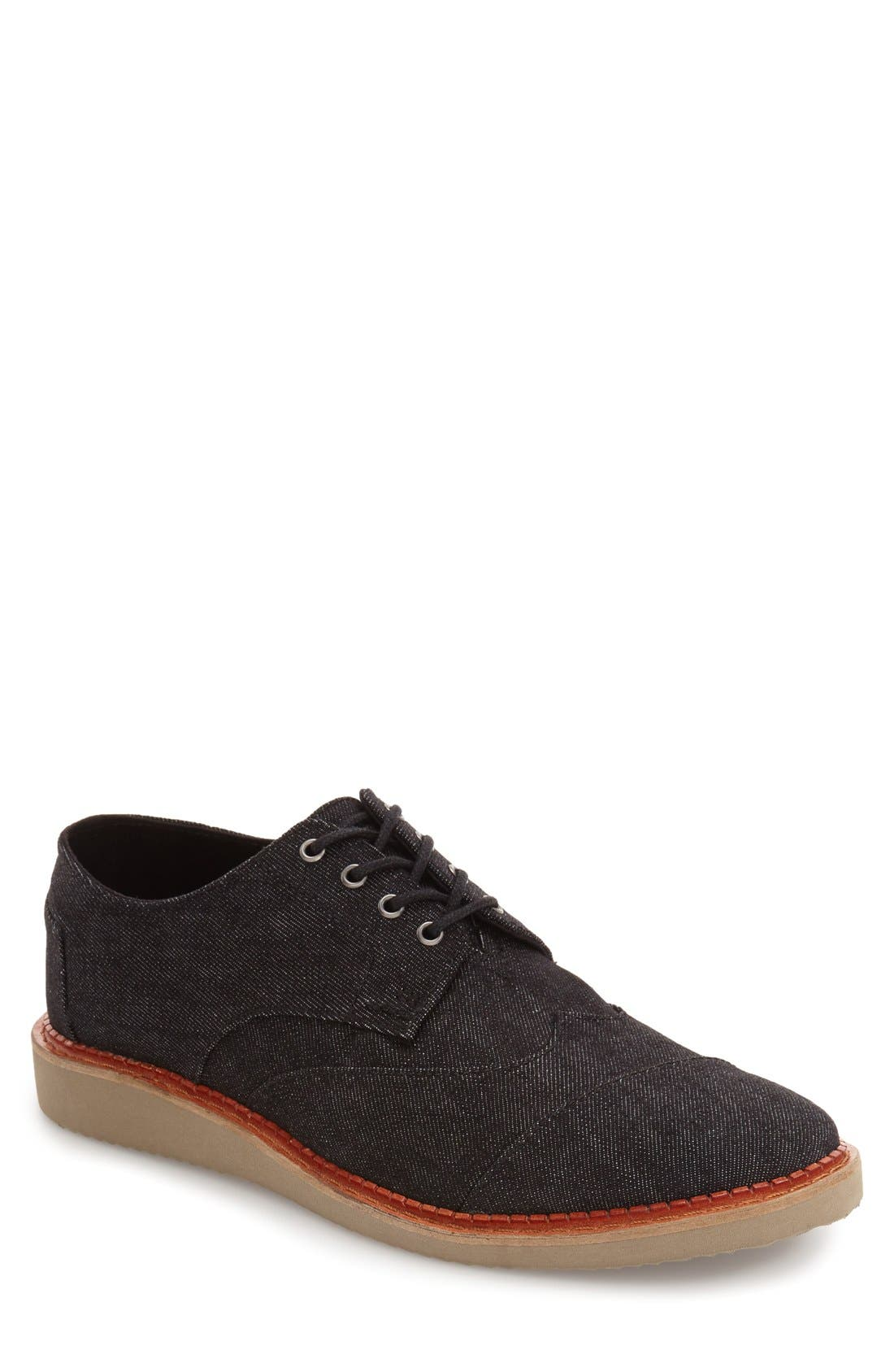 'Classic Brogue' Cotton Twill Derby,                             Main thumbnail 3, color,