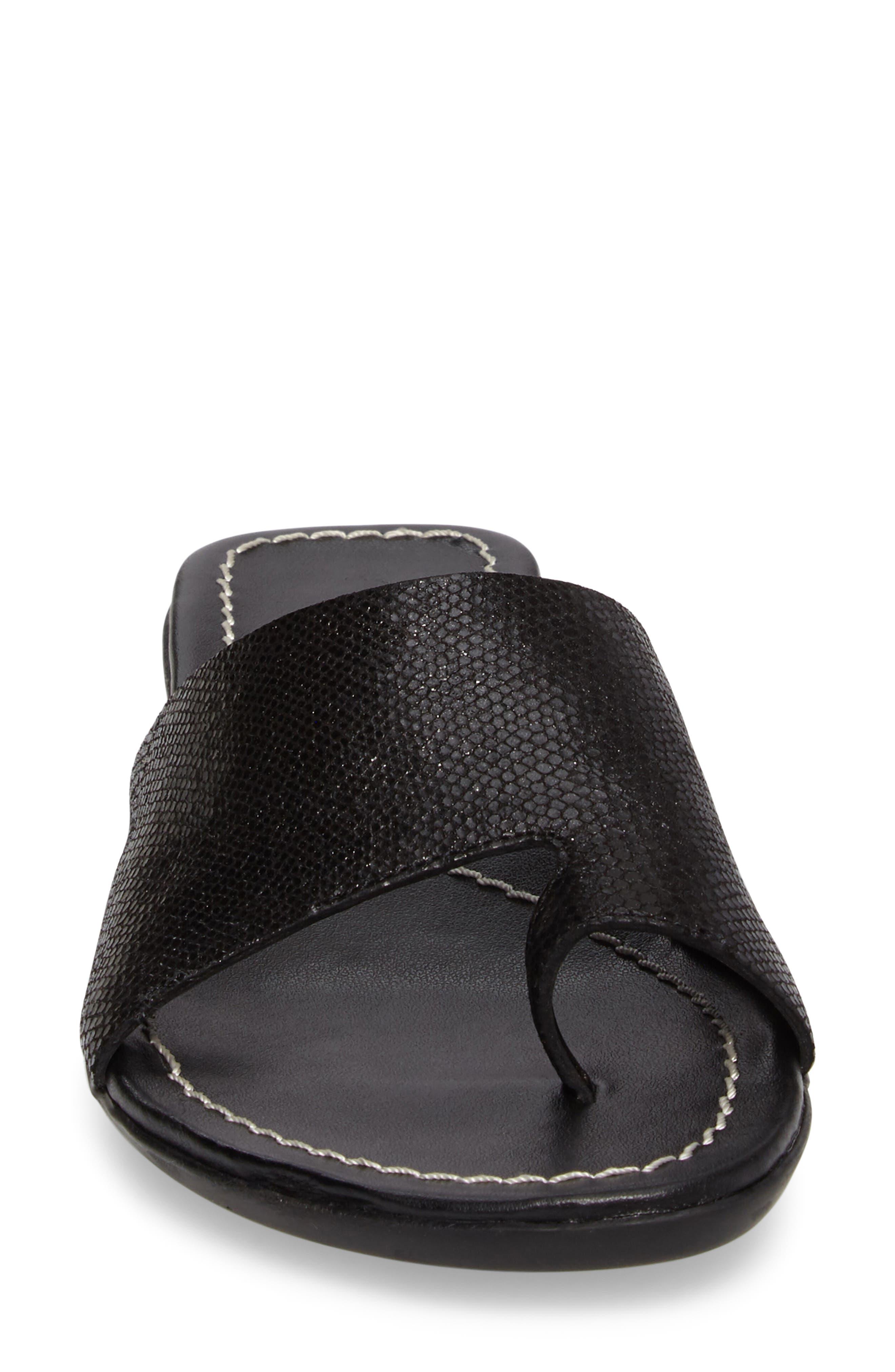 'Tallis' Snake Embossed Leather Slide Sandal,                             Alternate thumbnail 21, color,