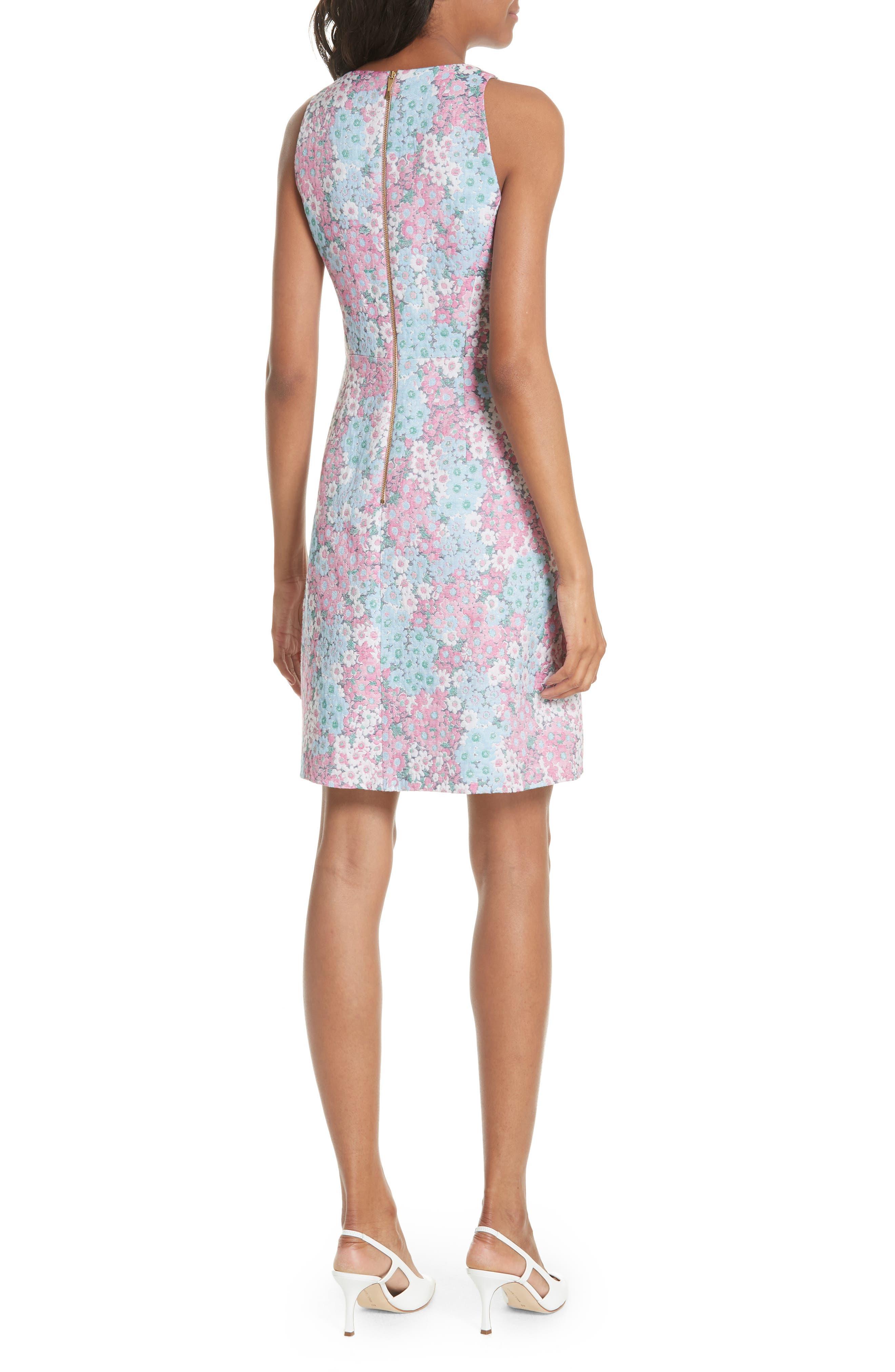 jacquard a-line dress,                             Alternate thumbnail 2, color,                             474