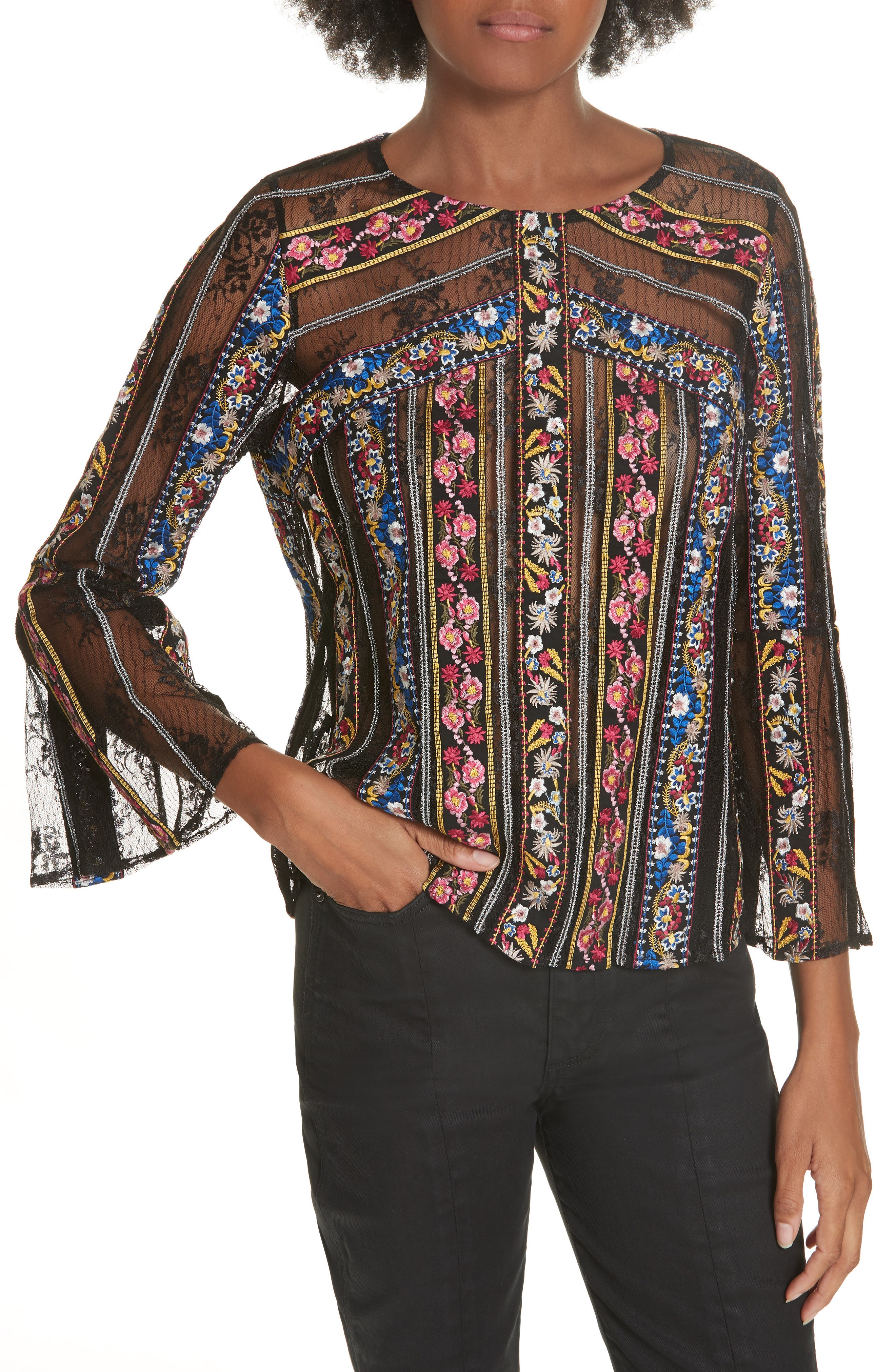 Larue Embroidered Blouse,                             Main thumbnail 1, color,                             019