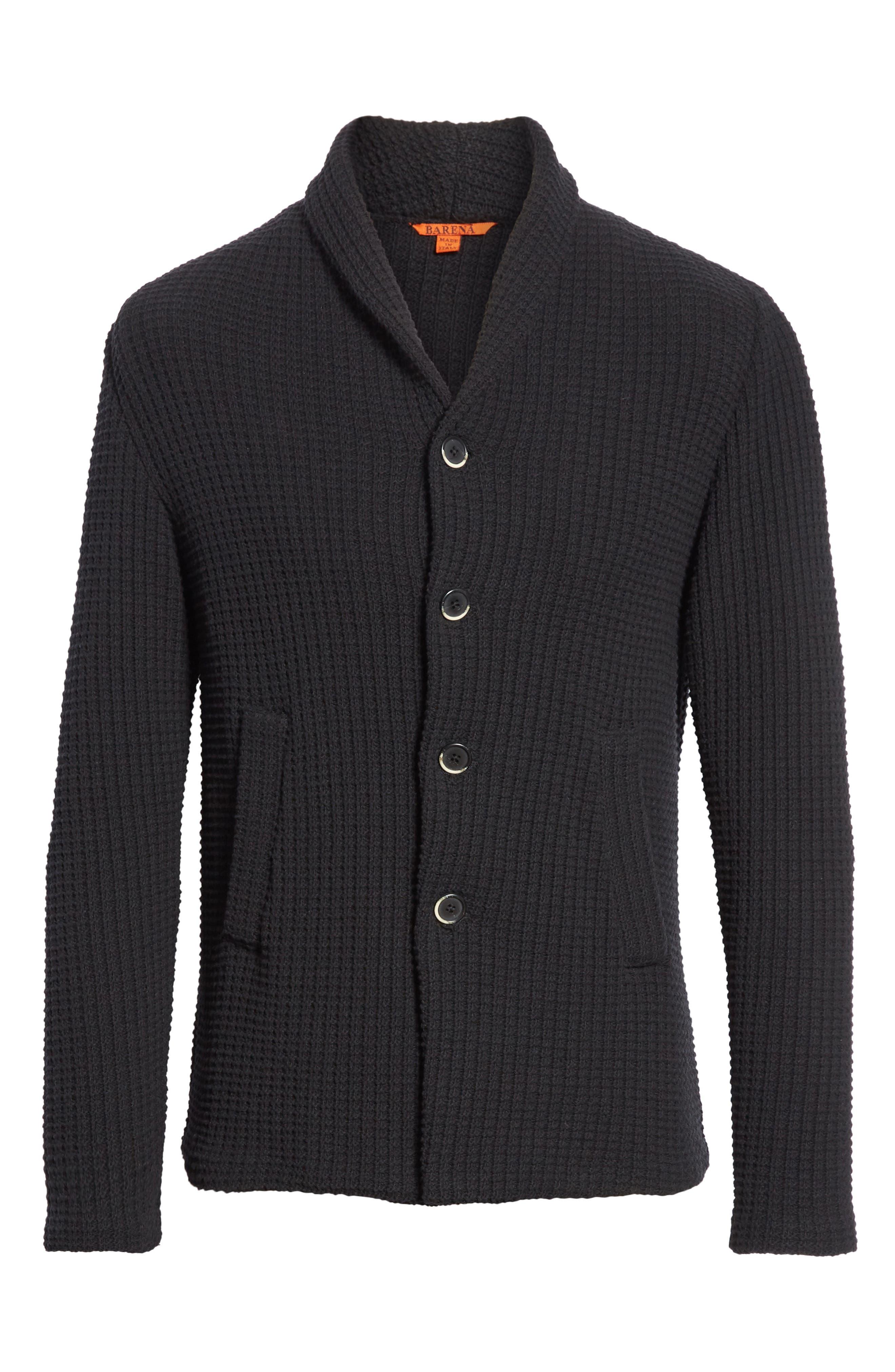 Barena Venzia Lione Badoer Knit Jacket,                             Alternate thumbnail 5, color,                             001