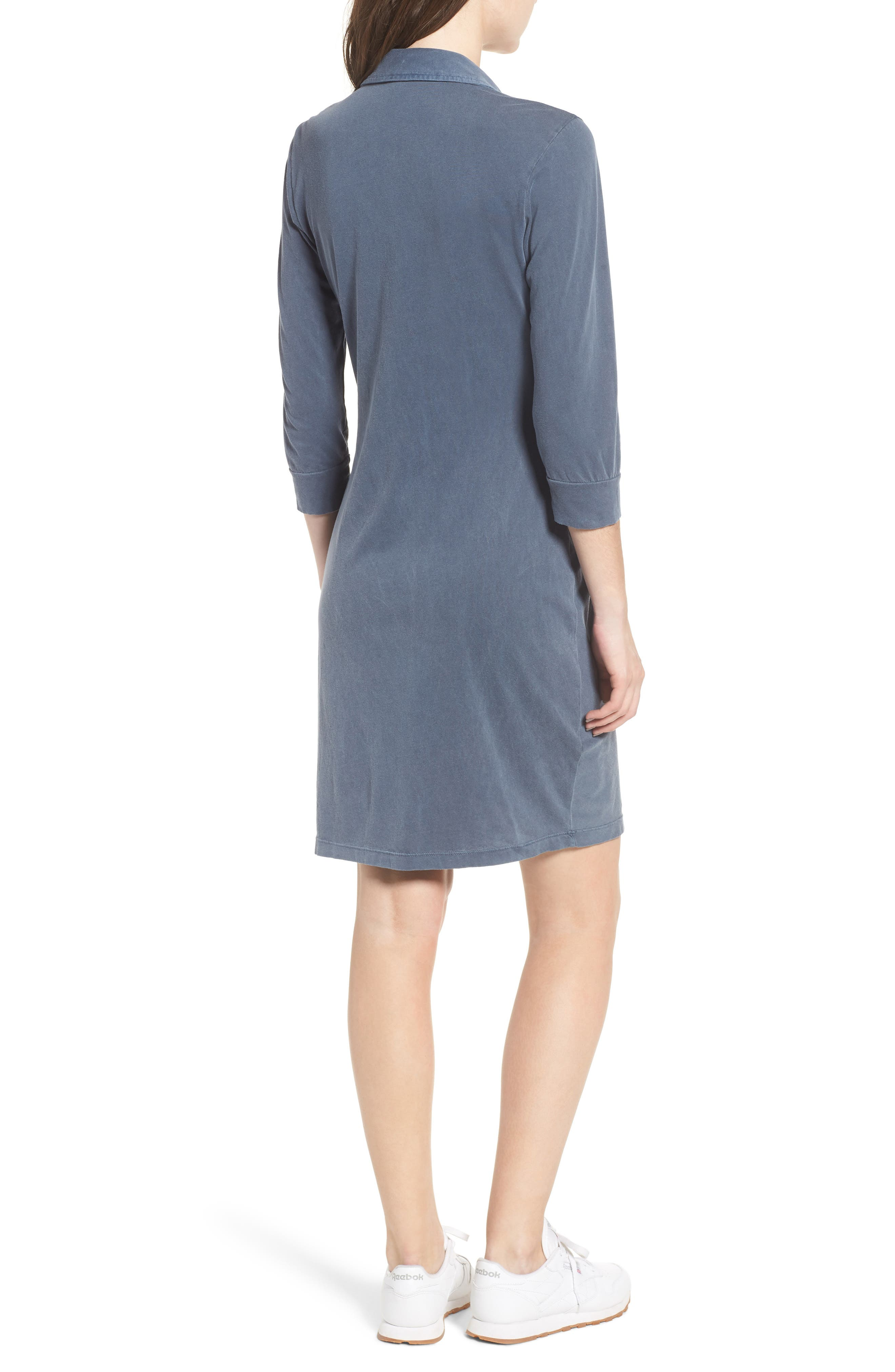 Twist Waist Brushed Jersey Dress,                             Alternate thumbnail 4, color,