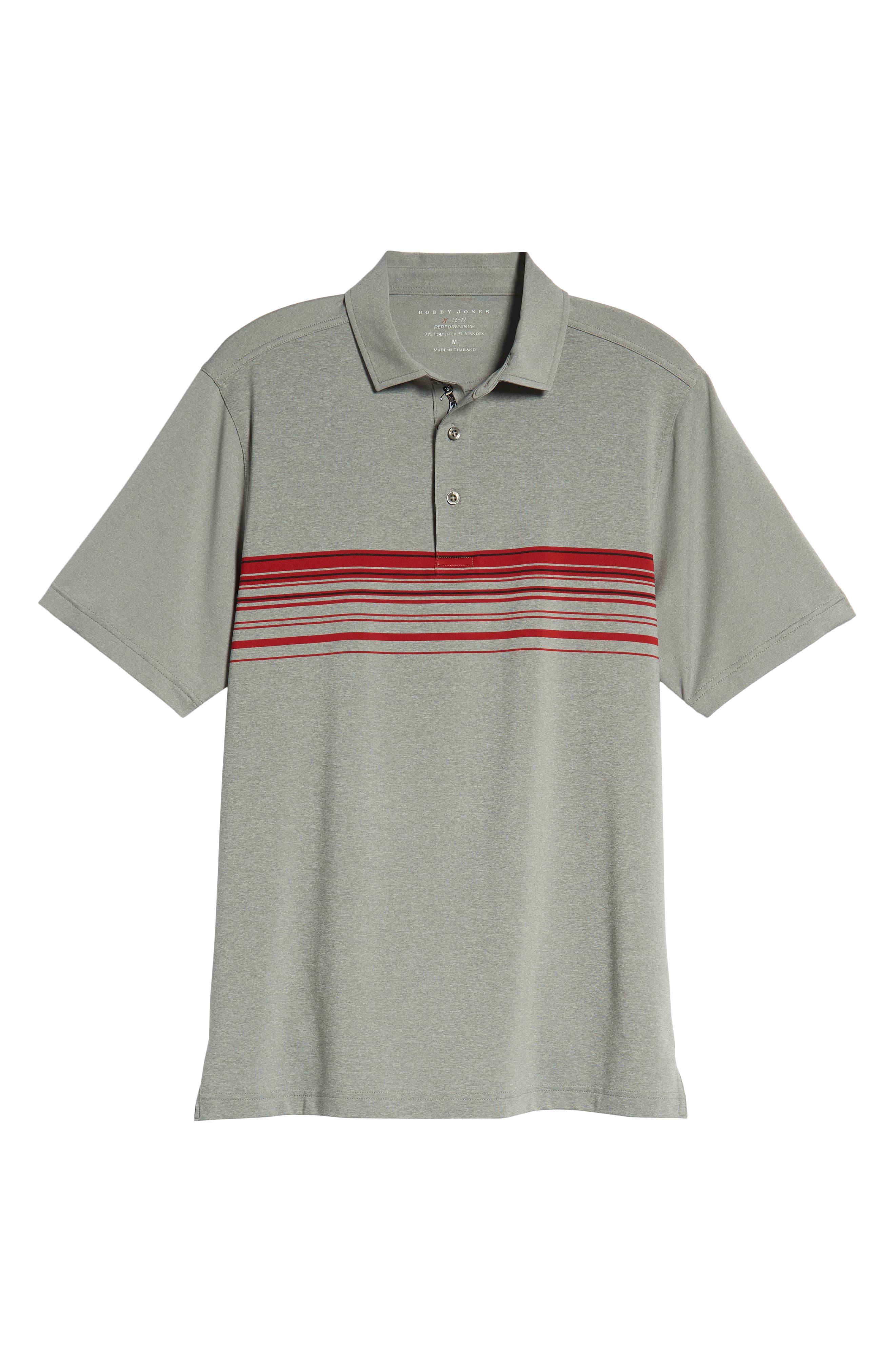 XH20 Gable Stripe Jersey Polo,                             Alternate thumbnail 6, color,                             GRAPHITE