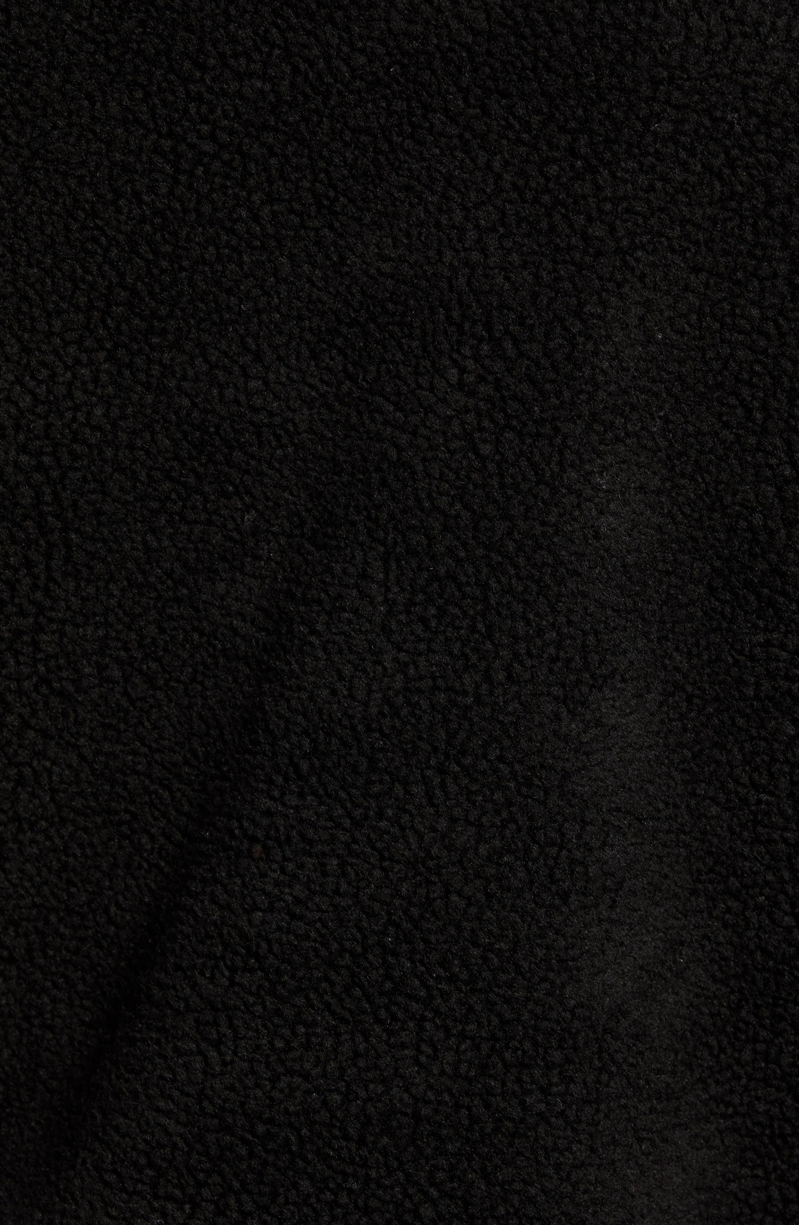 Tech Icon Fleece Zip Hoodie,                             Alternate thumbnail 6, color,                             BLACK/ BLACK