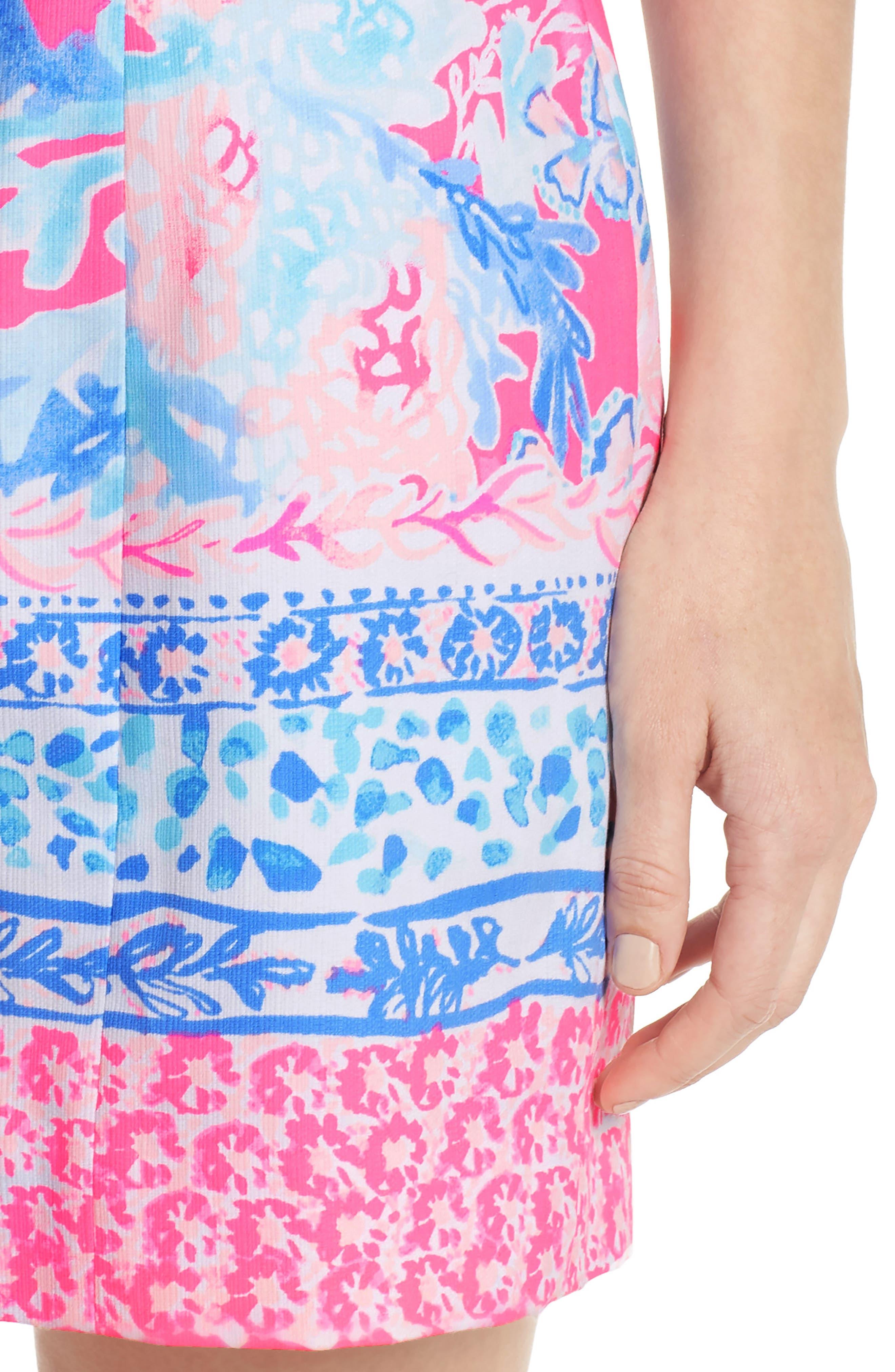 Mila Sheath Dress,                             Alternate thumbnail 4, color,                             LIGHT PASCHA PINK AQUADESIAC