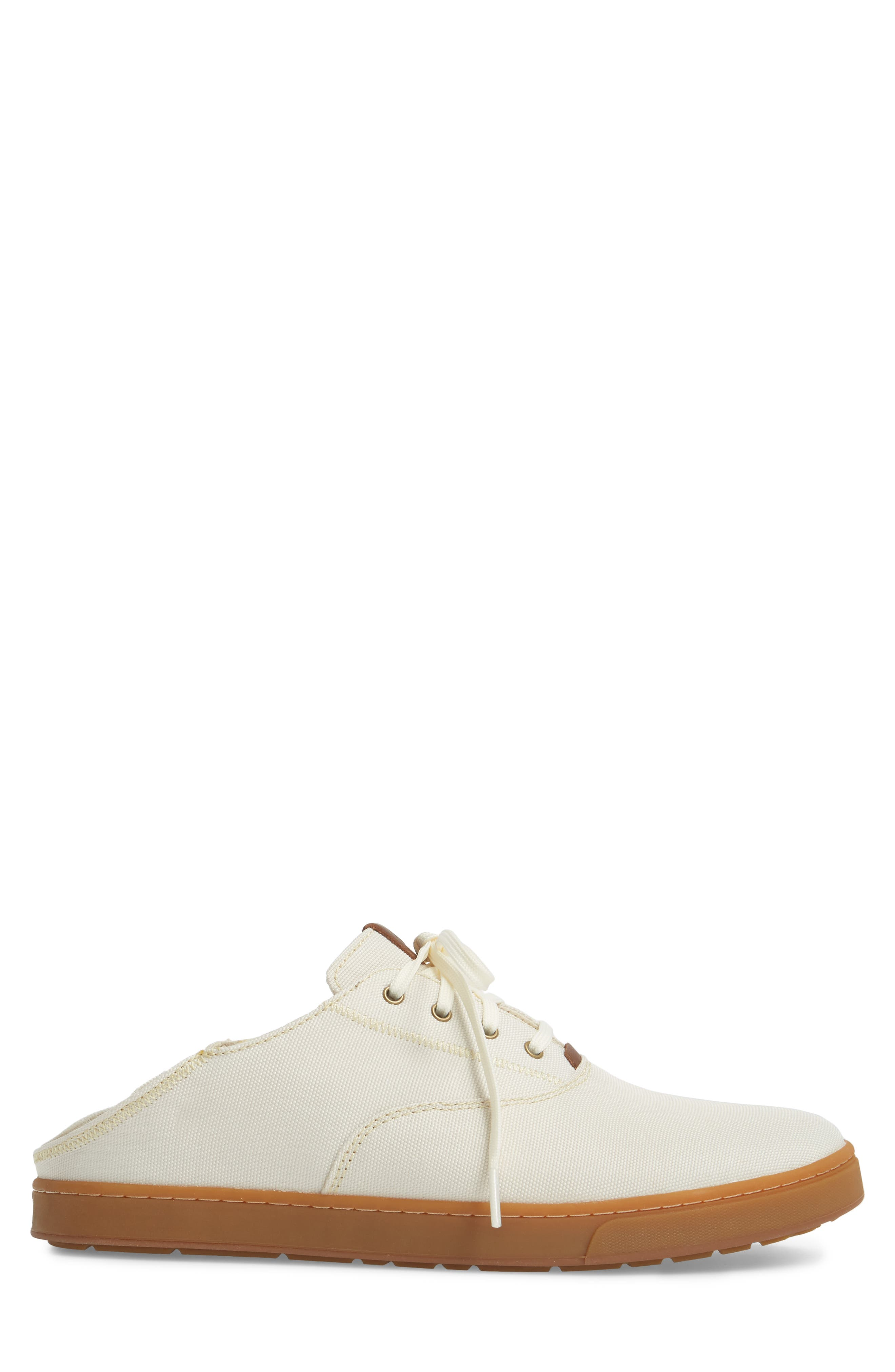 Kahu Collapsible Lace-Up Sneaker,                             Alternate thumbnail 4, color,                             OFF WHITE/ TOFFEE