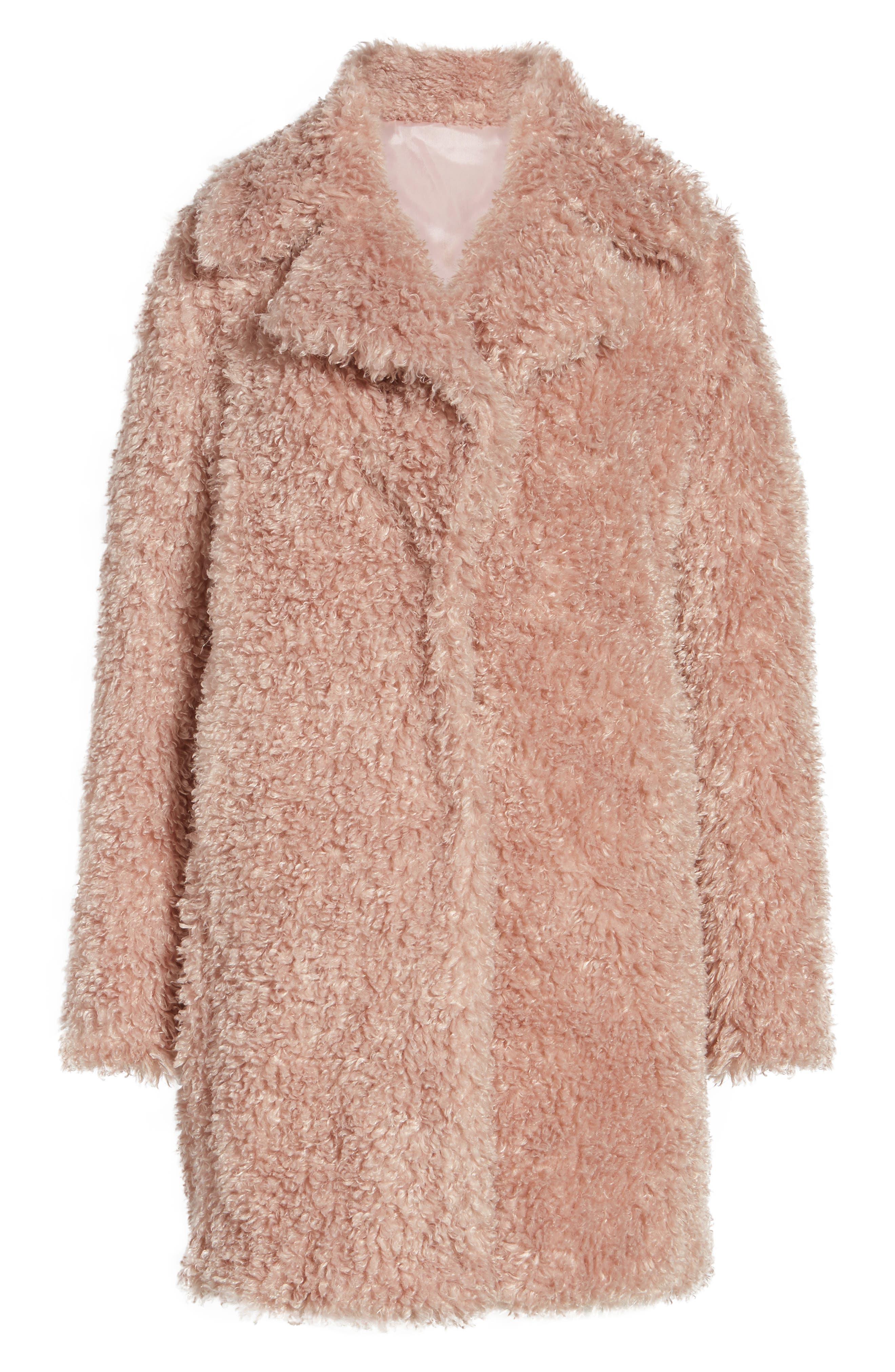 'Teddy Bear' Notch Collar Reversible Faux Fur Coat,                             Alternate thumbnail 23, color,