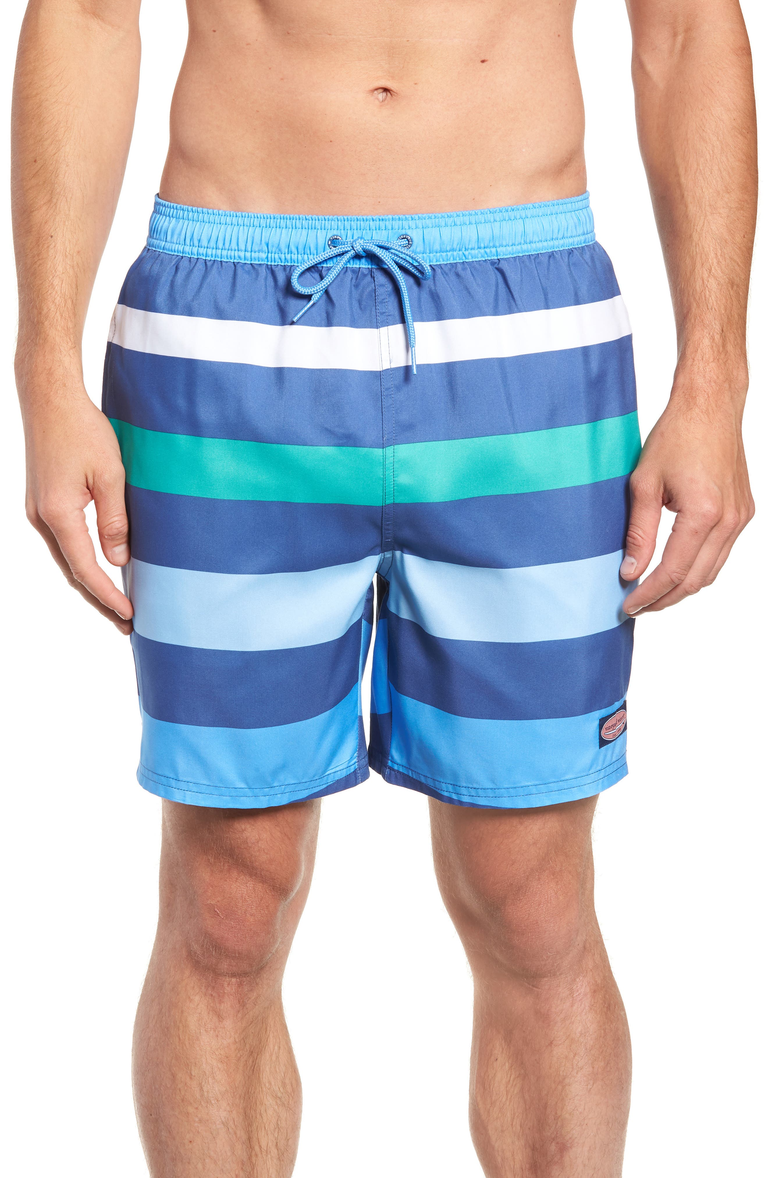 Chappy Pieced Swim Trunks,                             Main thumbnail 1, color,                             MOONSHINE