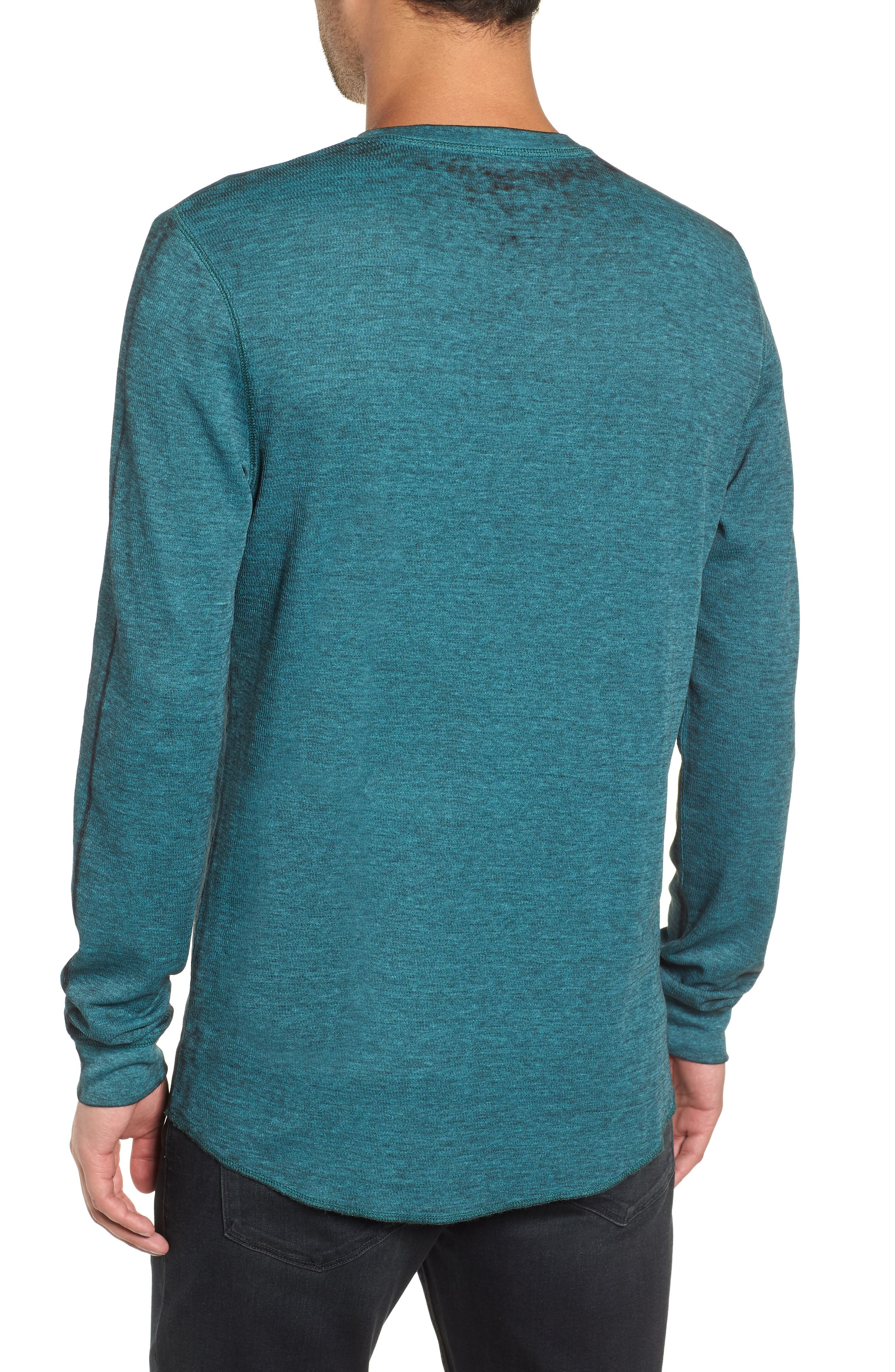 Notch Neck Thermal T-Shirt,                             Alternate thumbnail 13, color,