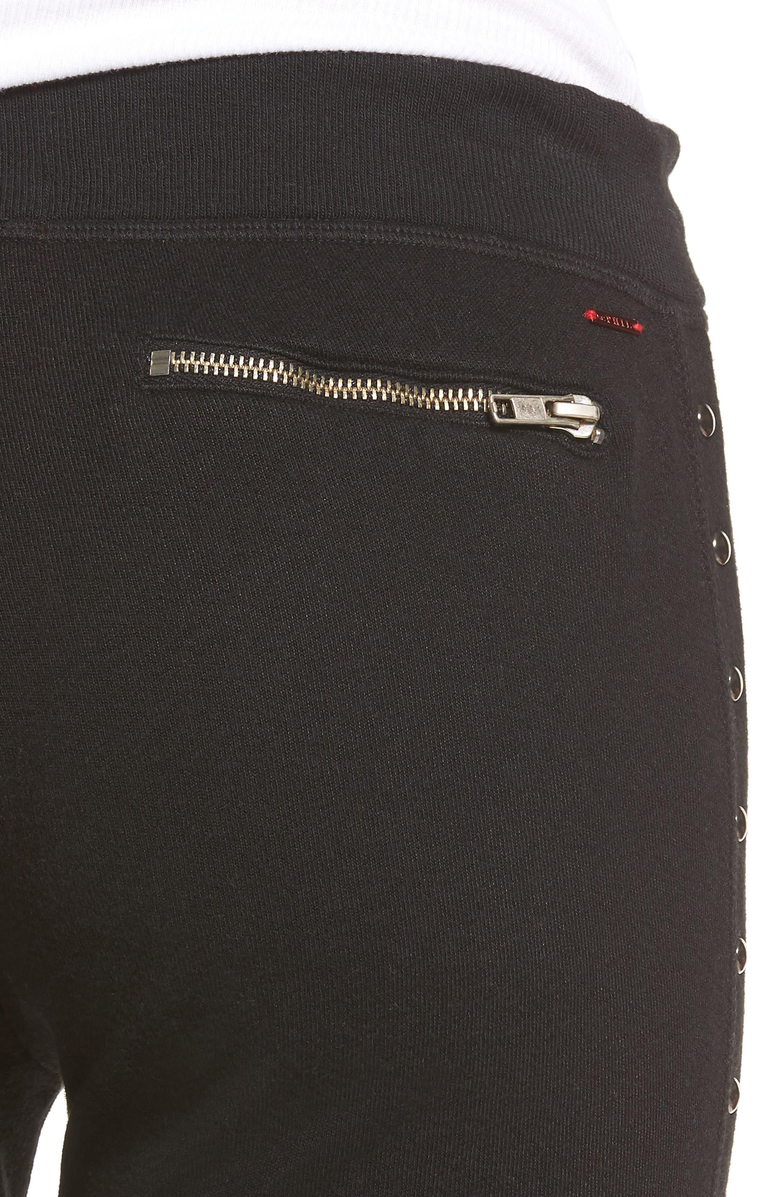 Joss Studded Sweatpants,                             Alternate thumbnail 4, color,                             001