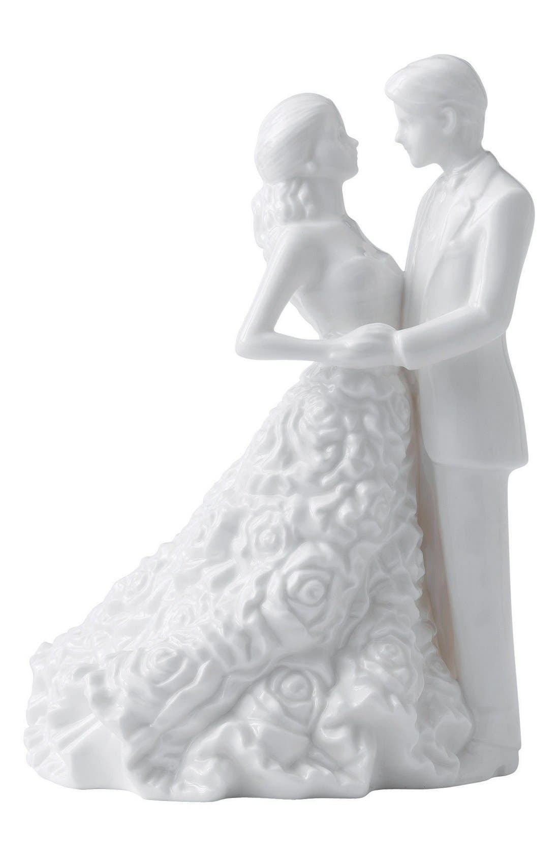 Monique Lhuillier Waterford 'Modern Love' Porcelain Cake Topper, Main, color, 100