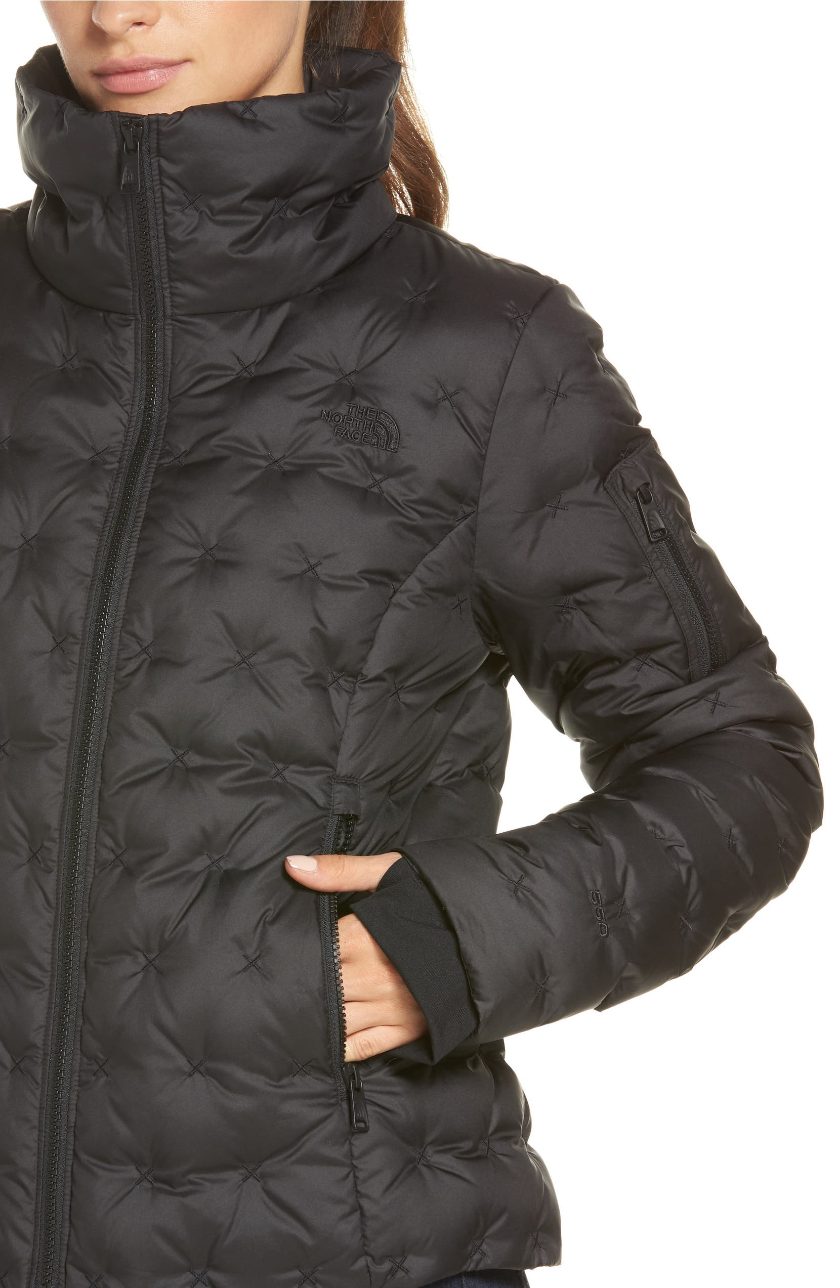 b29060b5af The North Face Holladown Water Repellent 550-Fill Power Down Crop Jacket