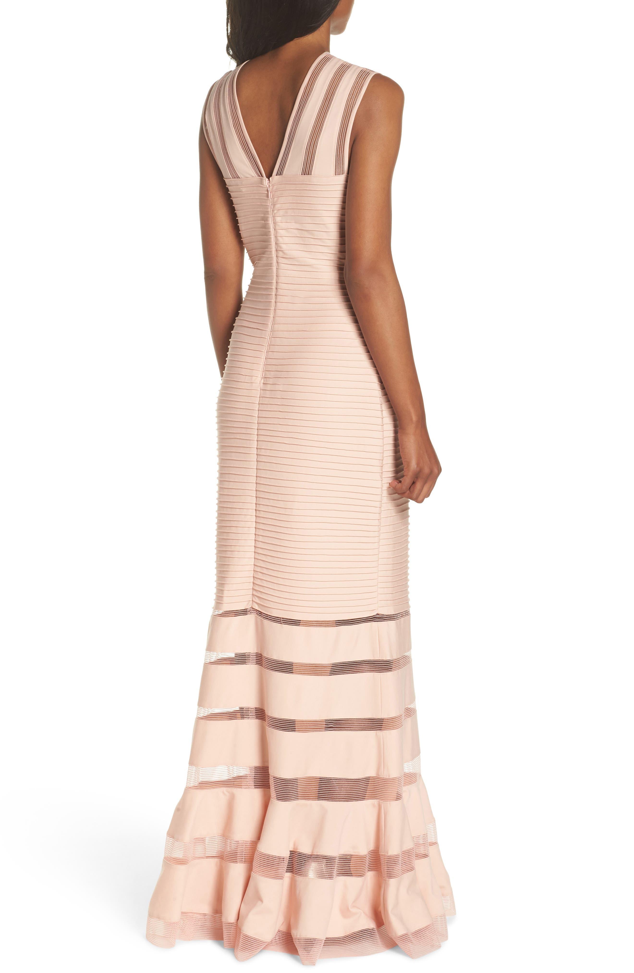 Mesh Inset Pintuck Dress,                             Alternate thumbnail 2, color,                             PETAL/ BLOOM