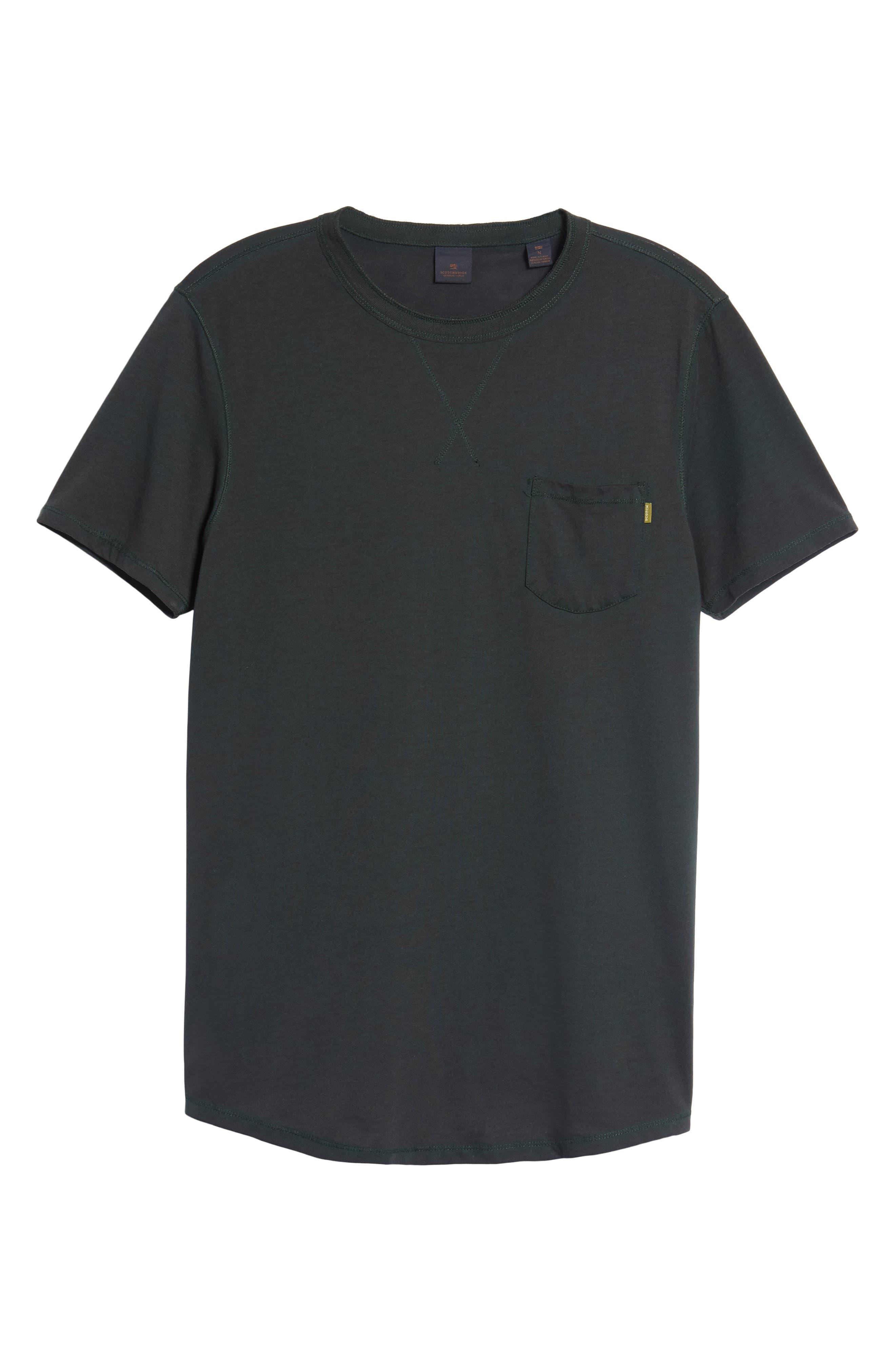 Crewneck Pocket T-Shirt,                             Alternate thumbnail 6, color,