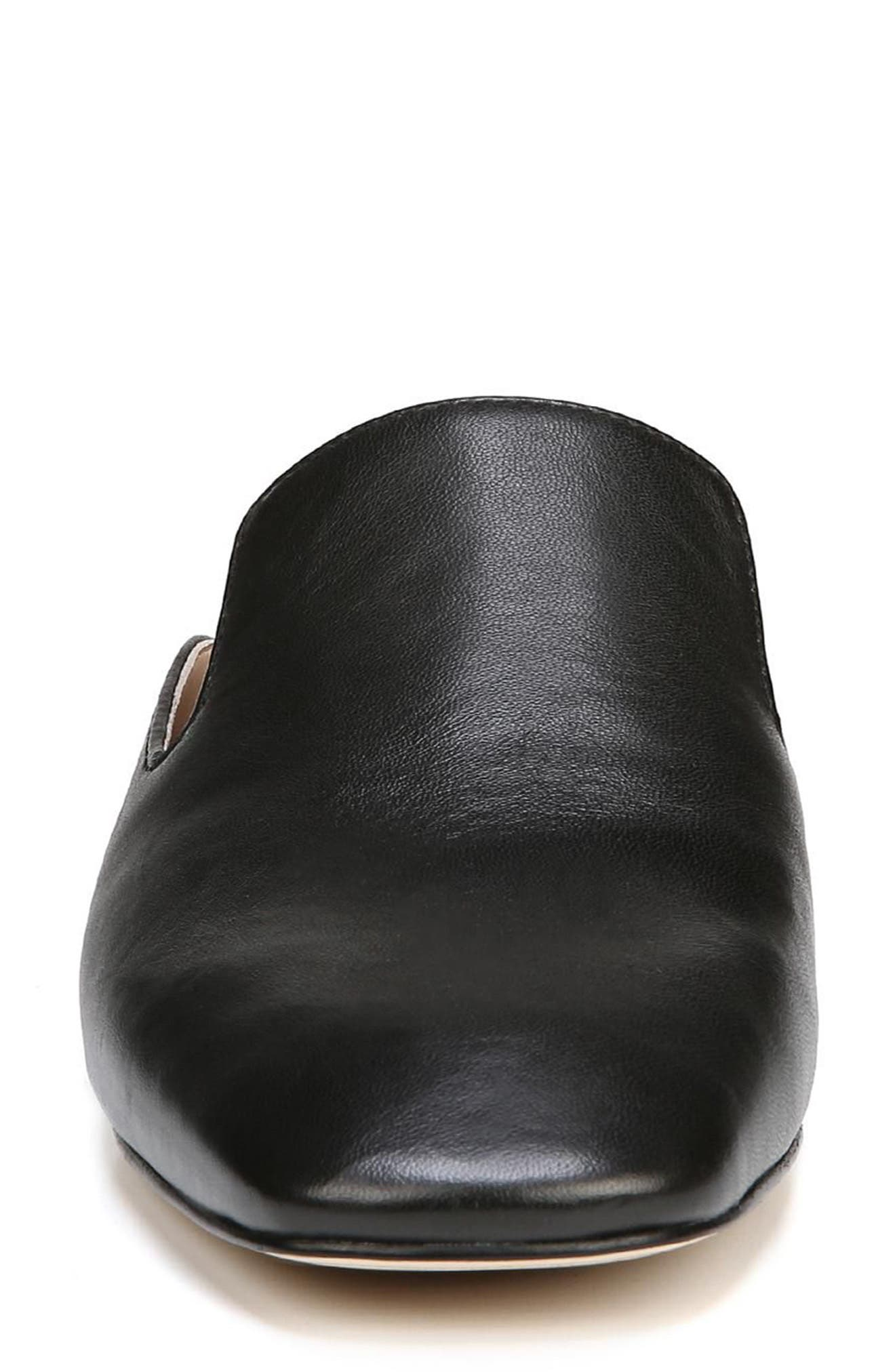 Adair Loafer Mule,                             Alternate thumbnail 4, color,                             BLACK LEATHER