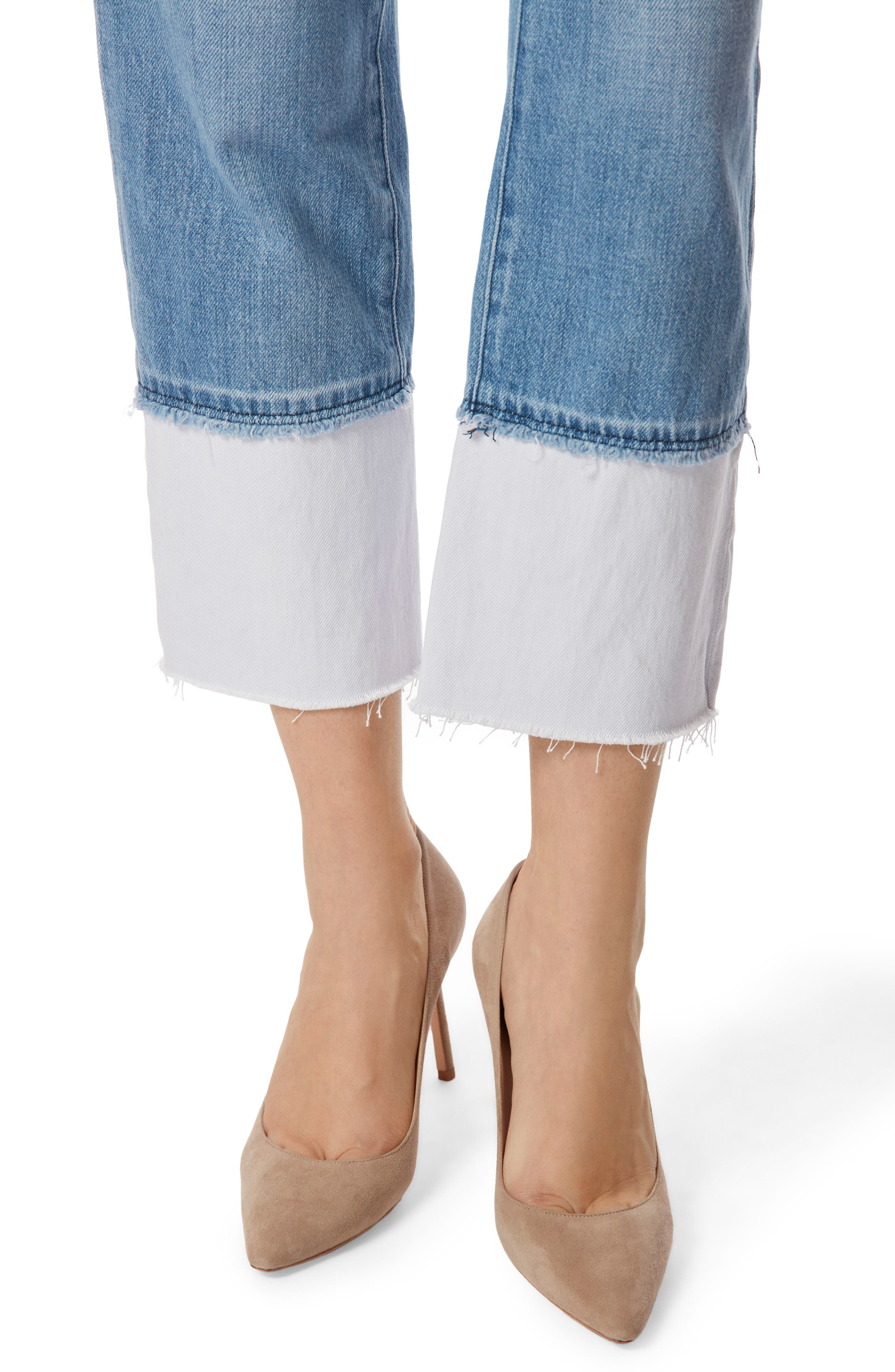 Wynne High Waist Crop Straight Leg Jeans,                             Alternate thumbnail 4, color,                             450