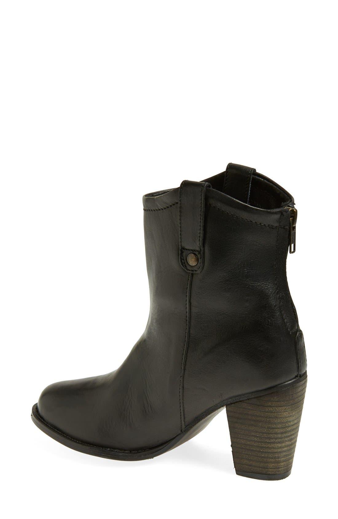 'Taralyn' Leather Boot,                             Alternate thumbnail 3, color,                             002