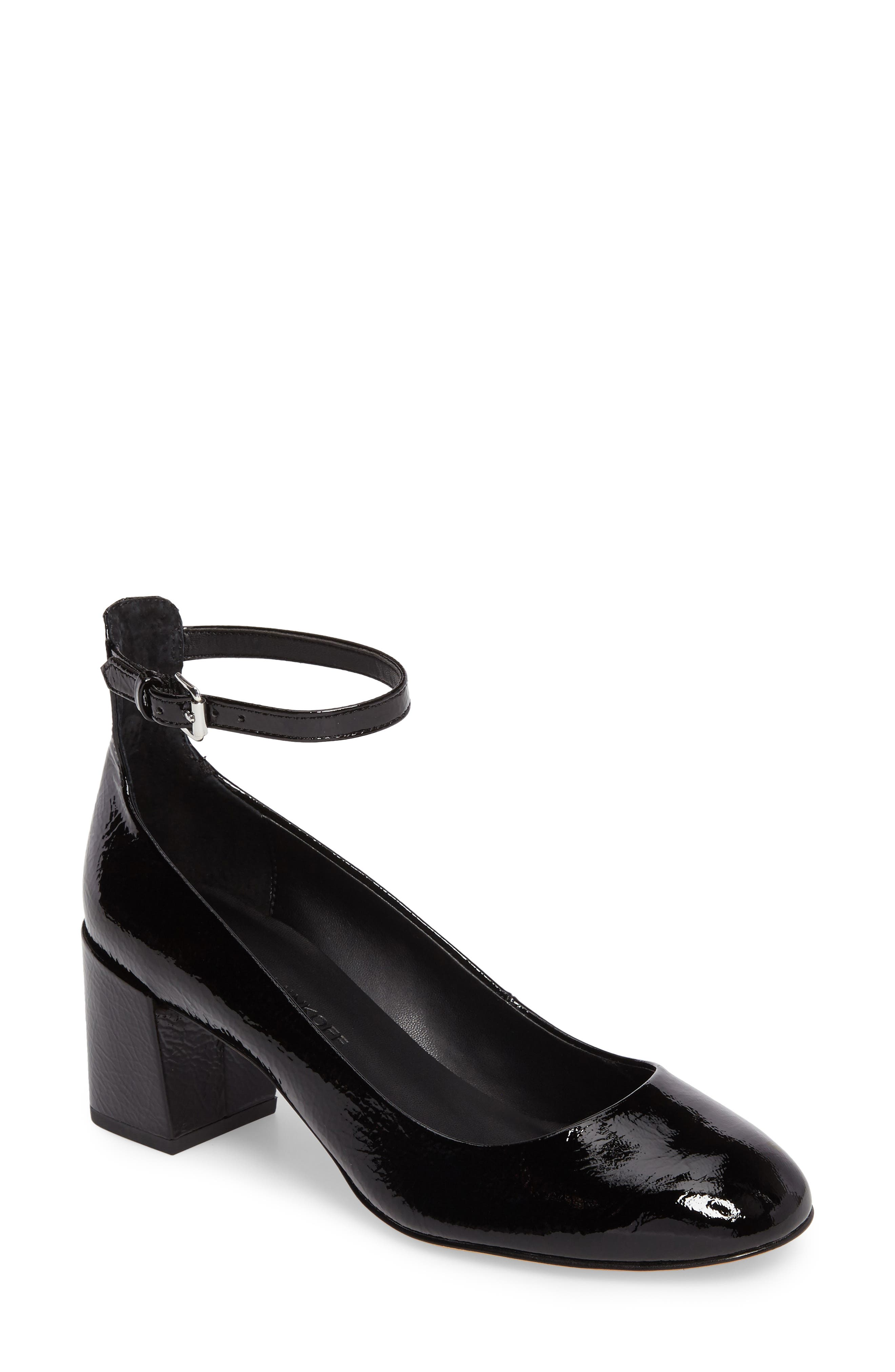 Bridget Ankle Strap Pump,                         Main,                         color, 001