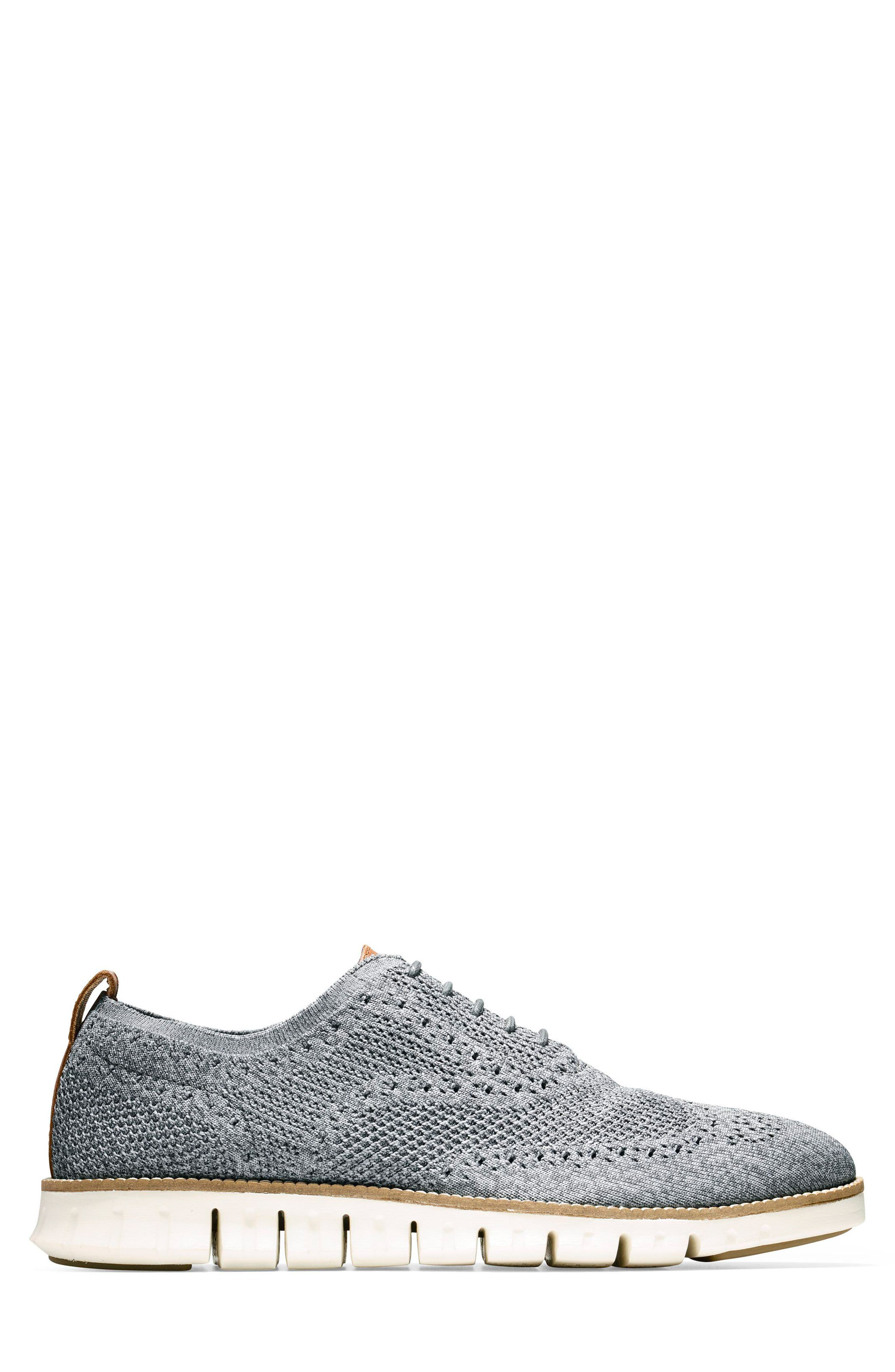 ZeroGrand Stitchlite Woven Wool Wingtip,                             Alternate thumbnail 3, color,                             IRONSTONE/ MAGNET/ IVORY