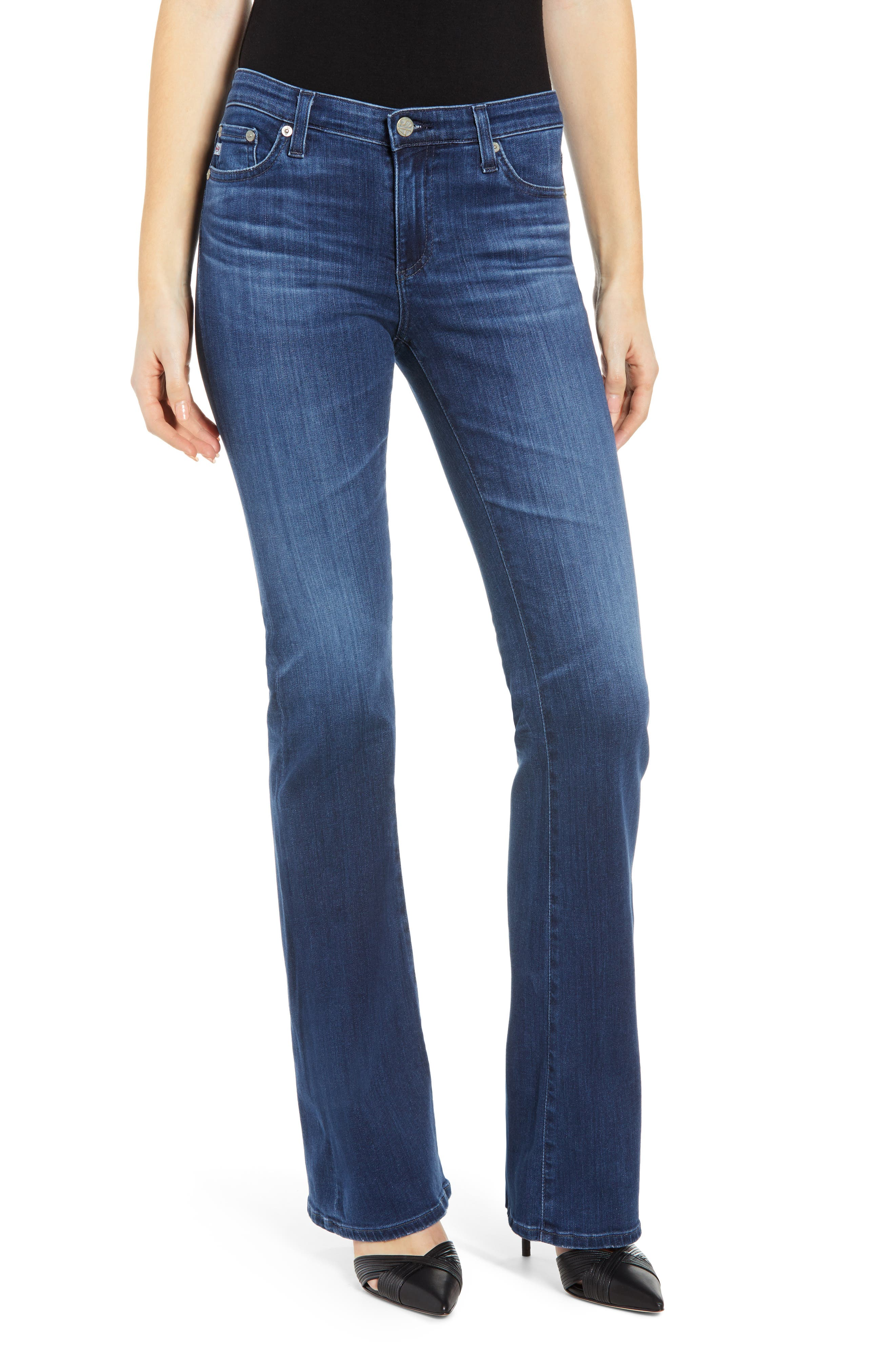 Angel Bootcut Jeans, Main, color, 05 YEAR BLUE ESSENCE