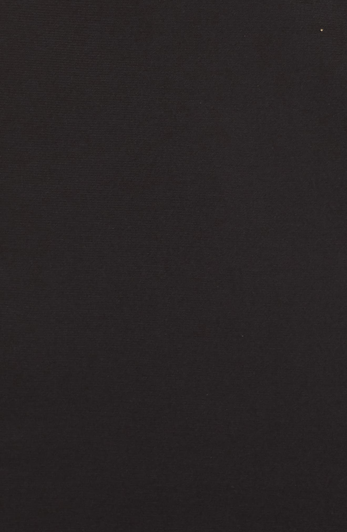 Mac Duggal Plunge Neck Slit Jersey Gown,                             Alternate thumbnail 6, color,                             BLACK