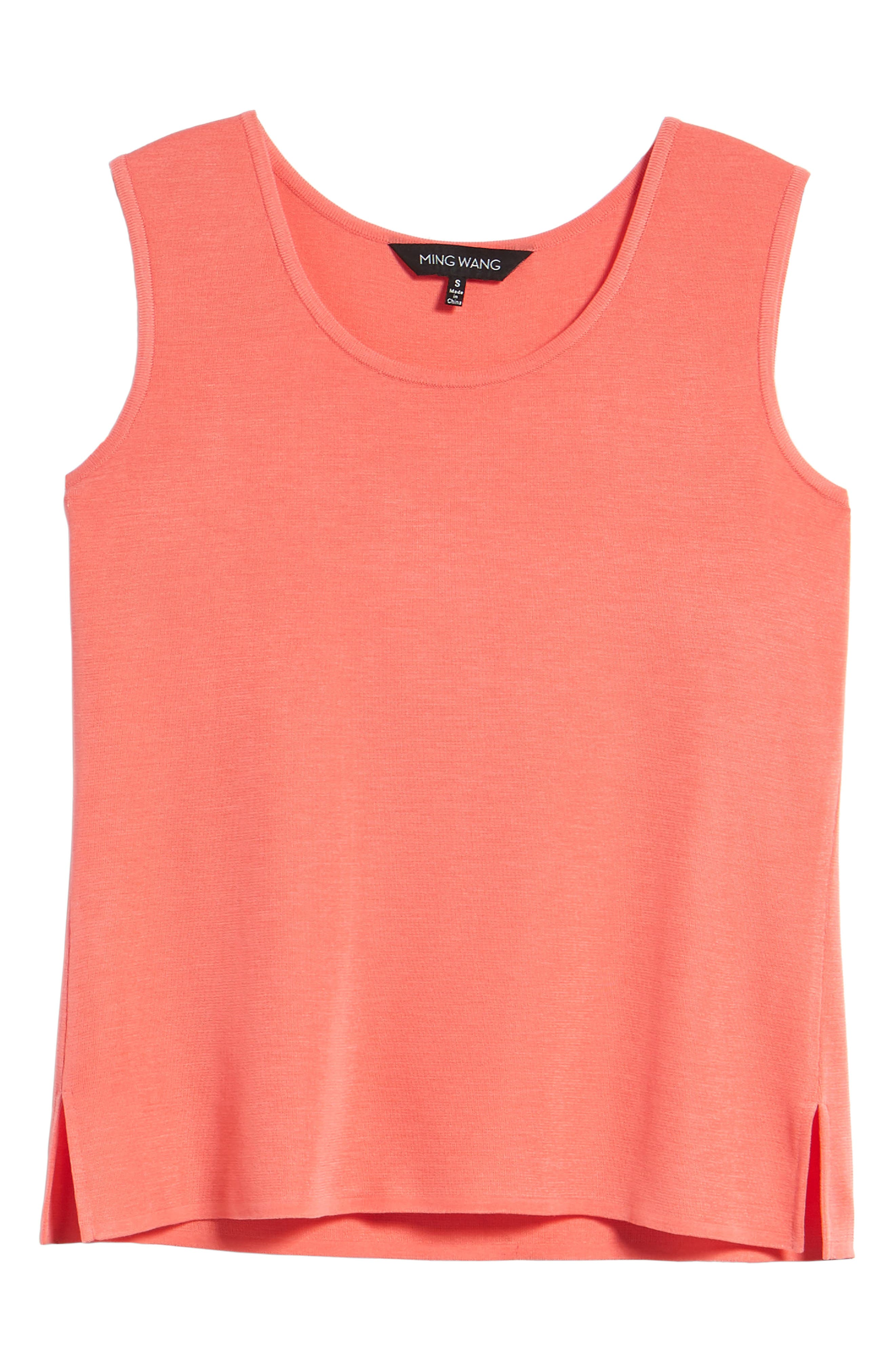 Scoop Neck Tank,                             Alternate thumbnail 7, color,                             DAYLILY