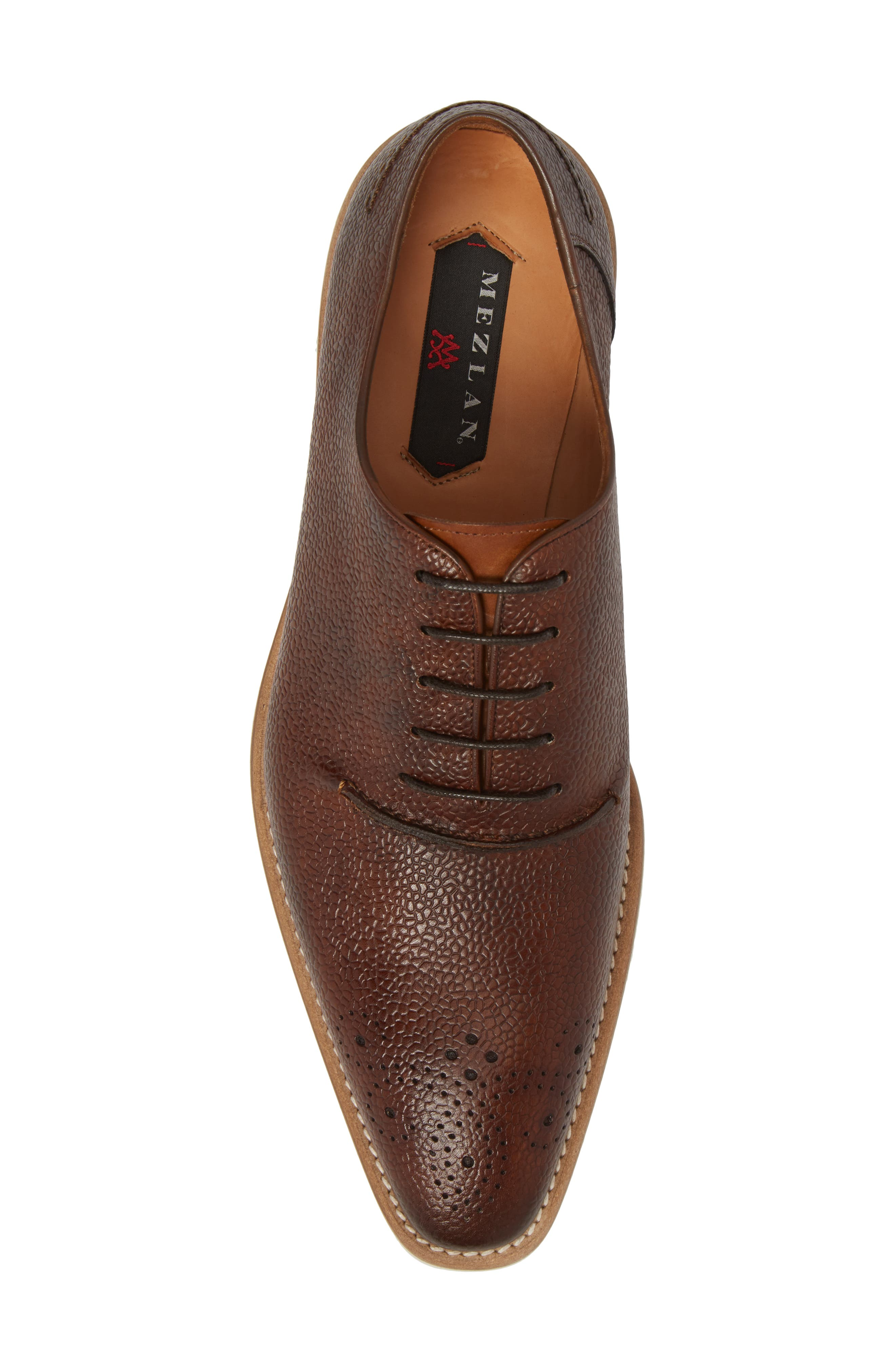Polux Brogued Oxford,                             Alternate thumbnail 5, color,                             COGNAC LEATHER
