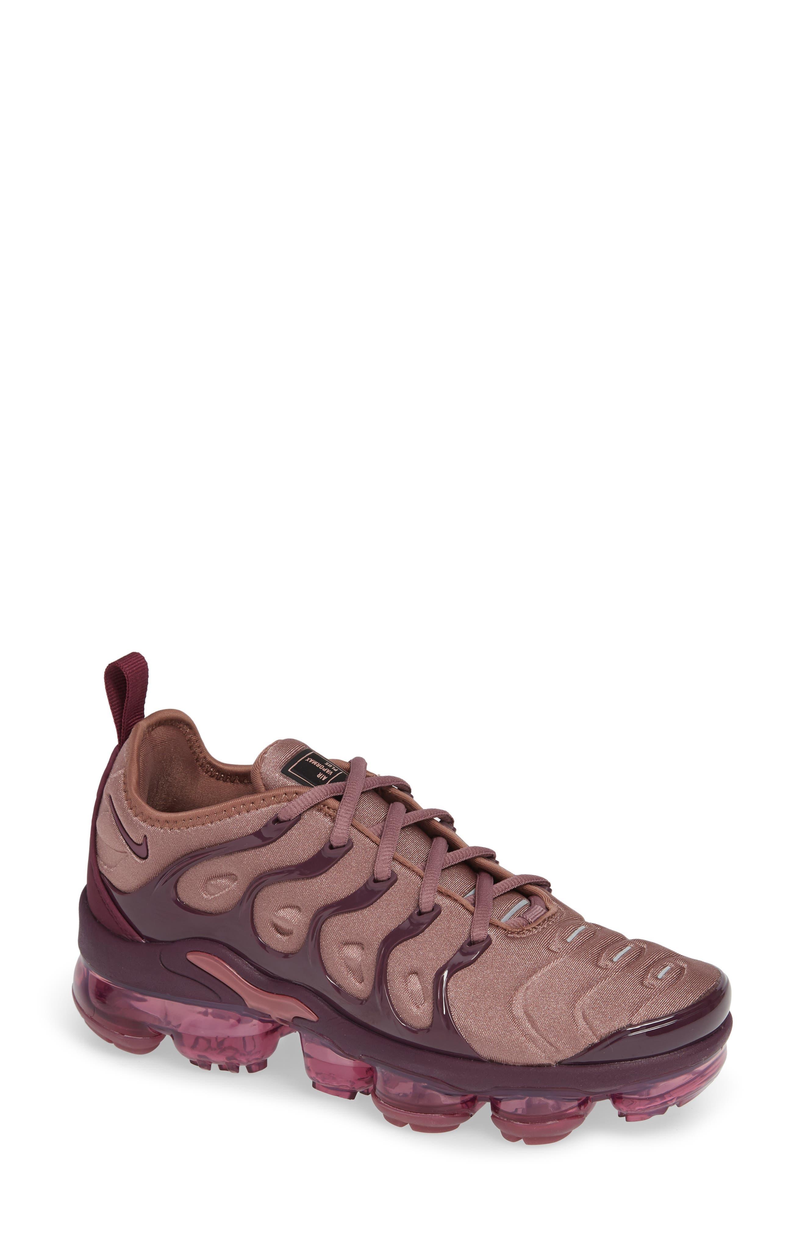 Air VaporMax Plus Sneaker,                             Main thumbnail 1, color,                             MAUVE/ BORDEAUX/ WINE/ BLACK