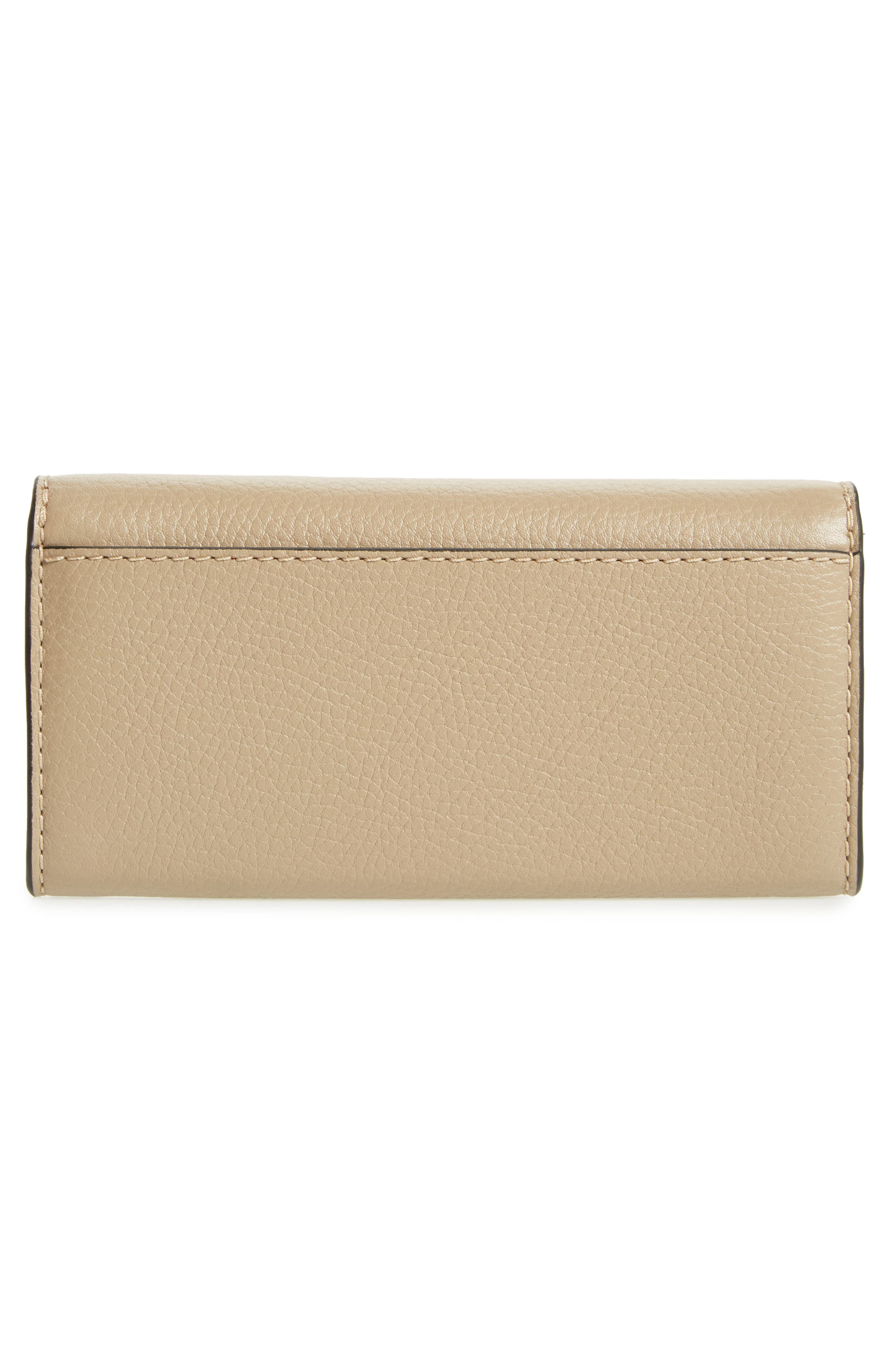 Leather Continental Wallet,                             Alternate thumbnail 3, color,                             LIGHT SLATE