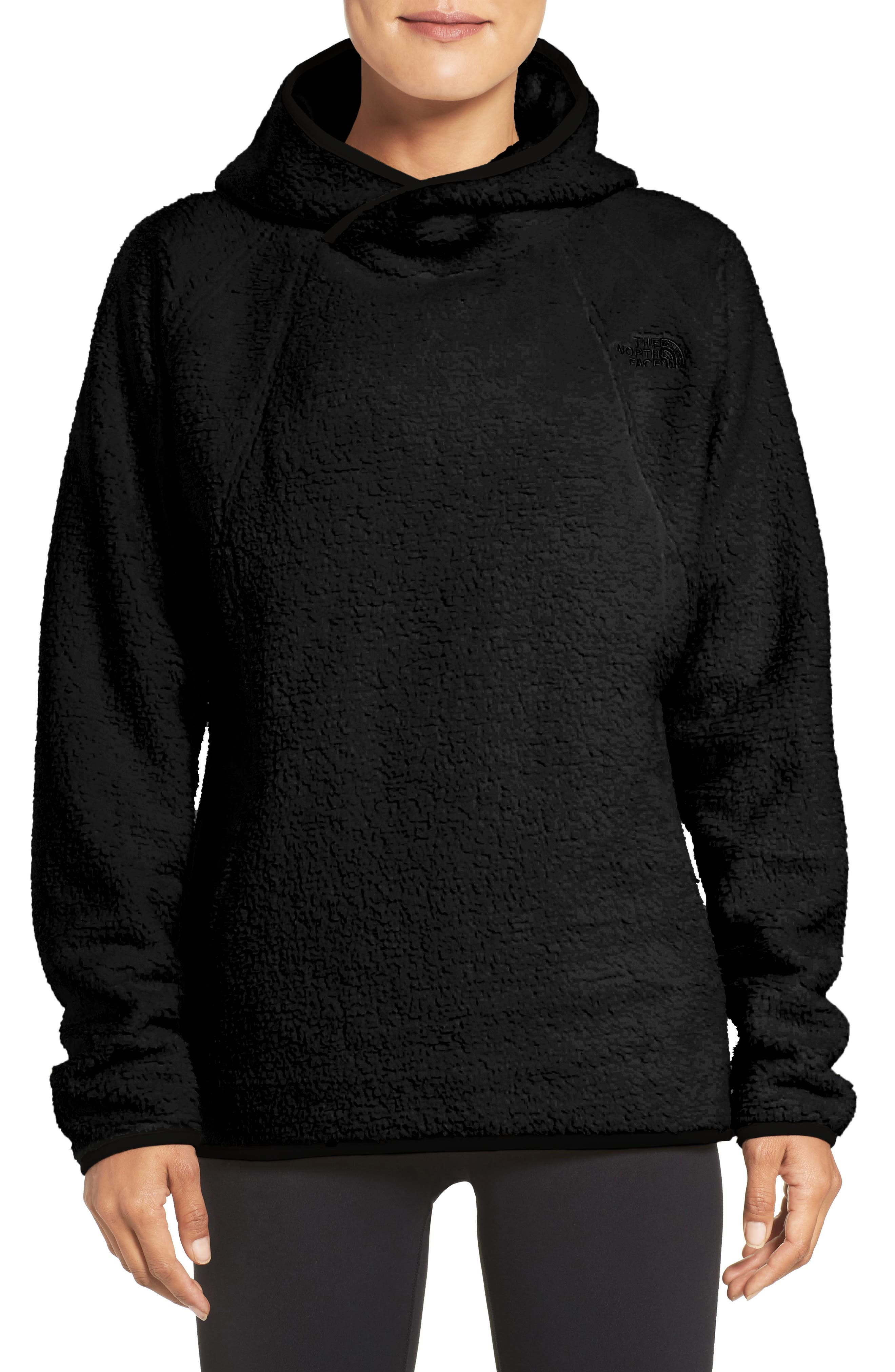 Hooded Fleece Pullover,                             Main thumbnail 1, color,                             001
