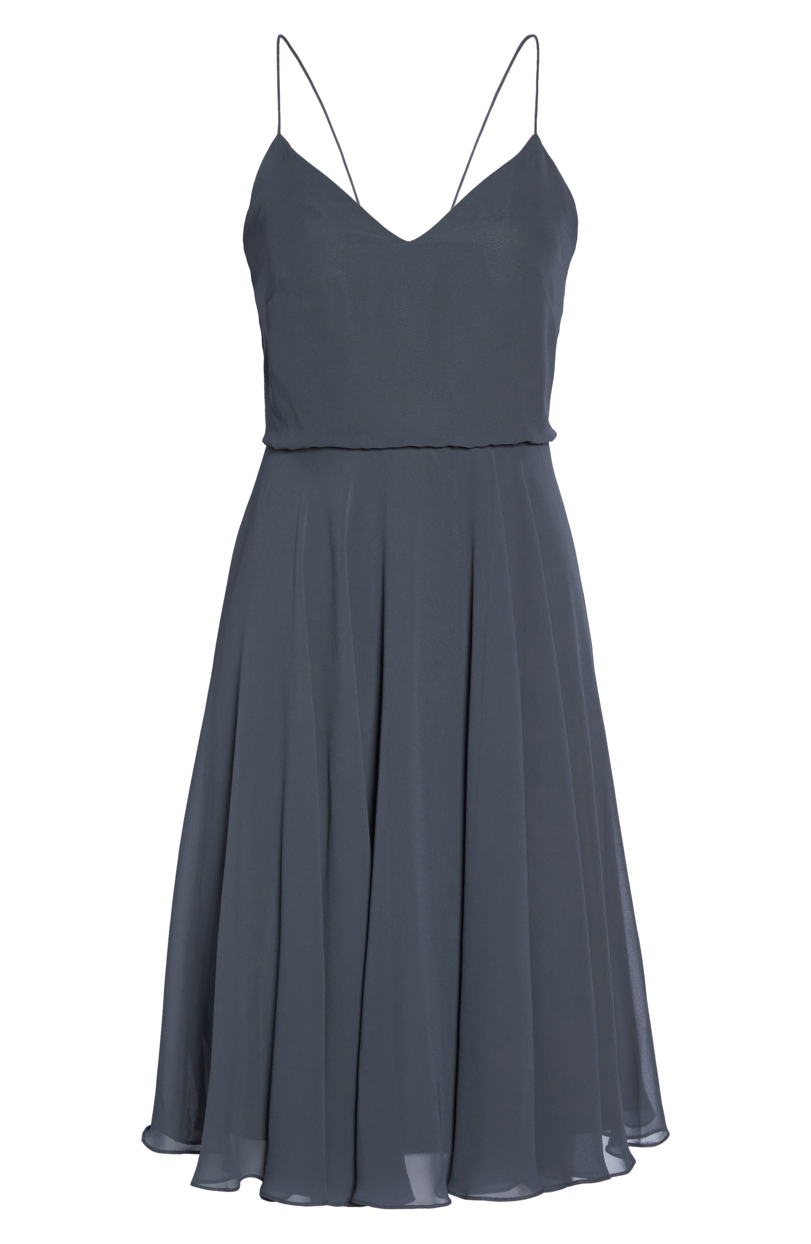 JENNY YOO,                             Sienna Chiffon Dress,                             Alternate thumbnail 6, color,                             026
