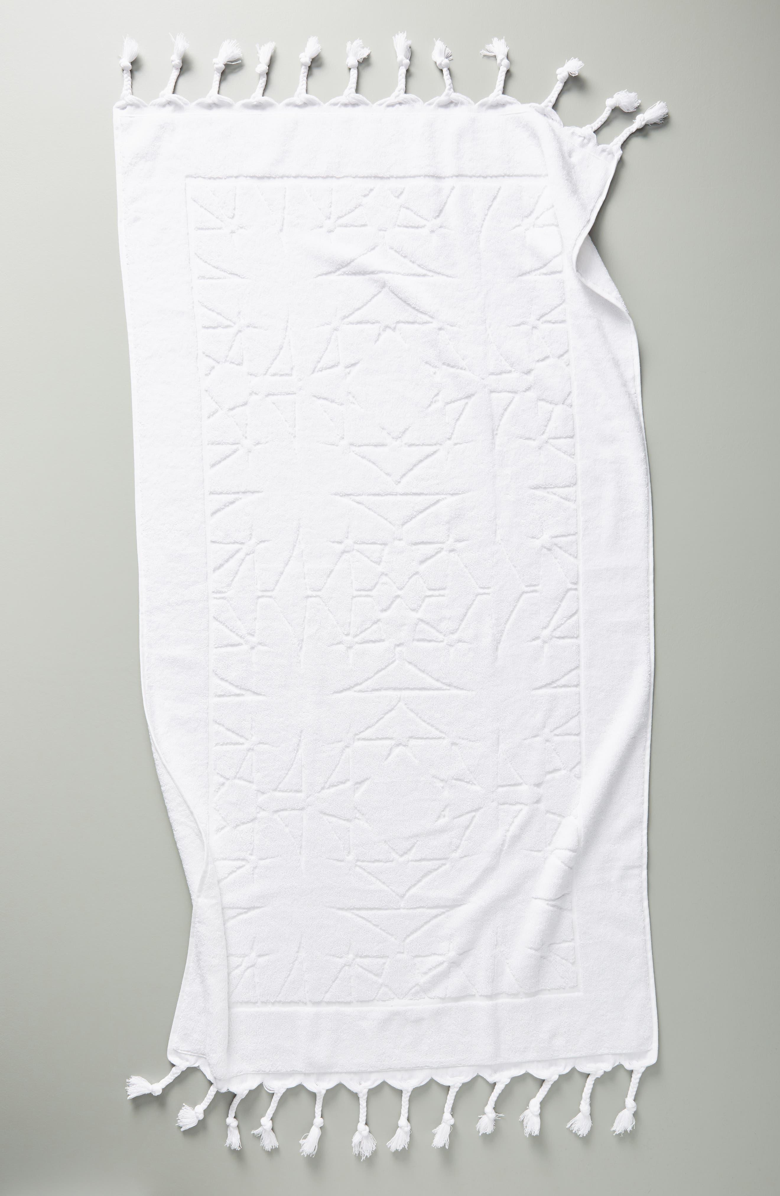 Brewer Bath Towel,                             Alternate thumbnail 2, color,                             WHITE