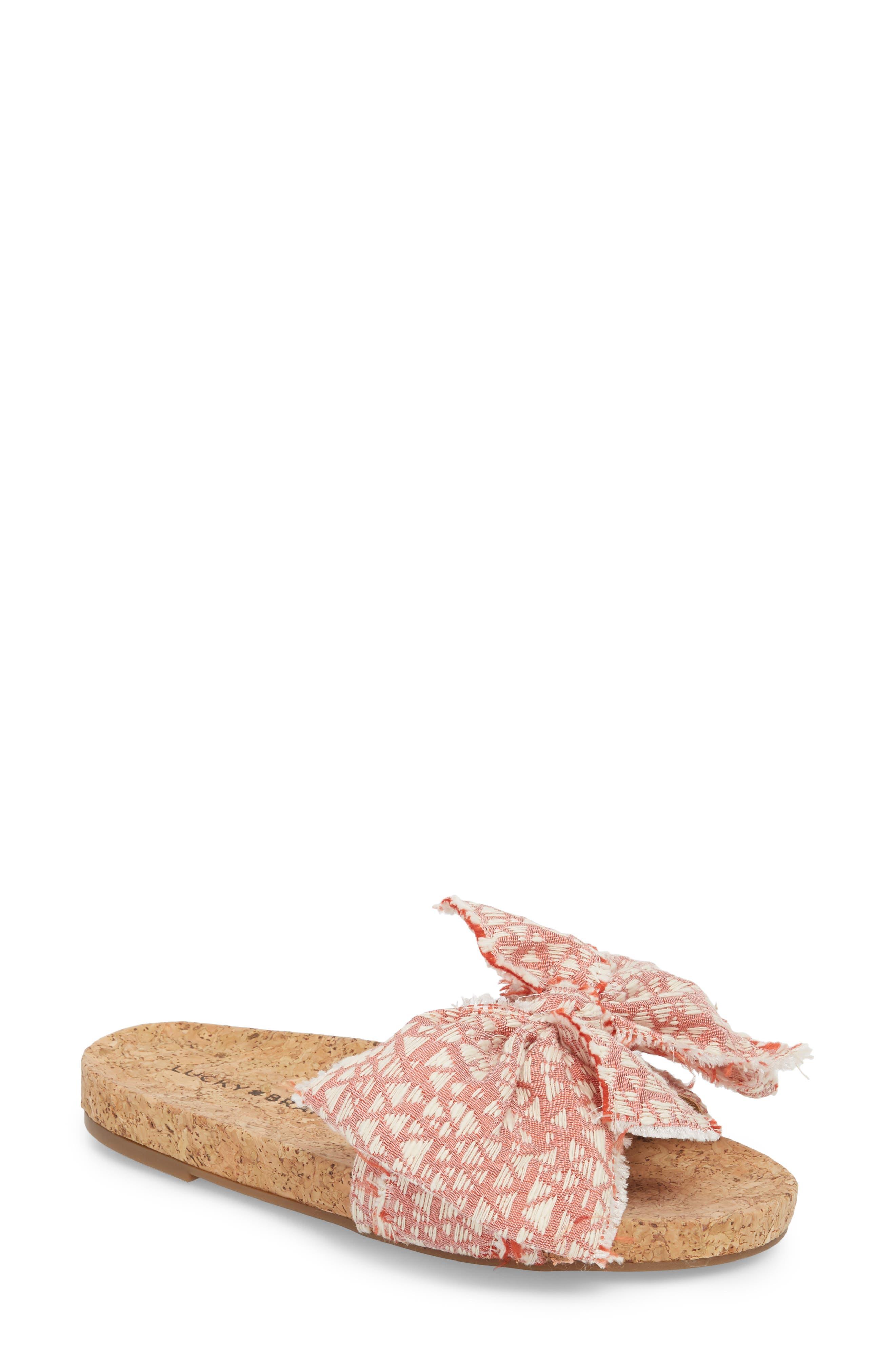Floella Bow Slide Sandal,                             Main thumbnail 3, color,