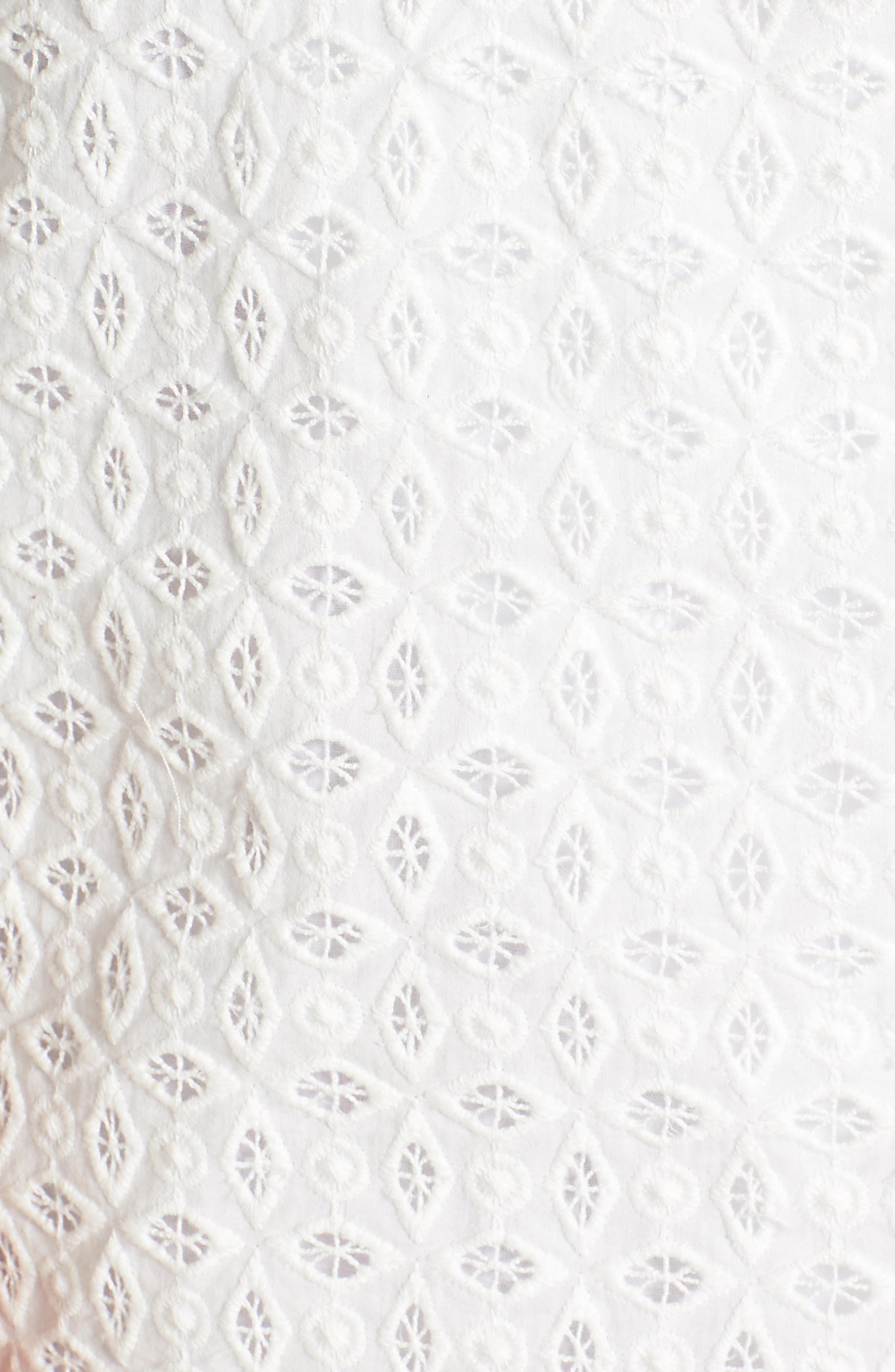 Andrea Ruffle Wrap Dress,                             Alternate thumbnail 6, color,                             101