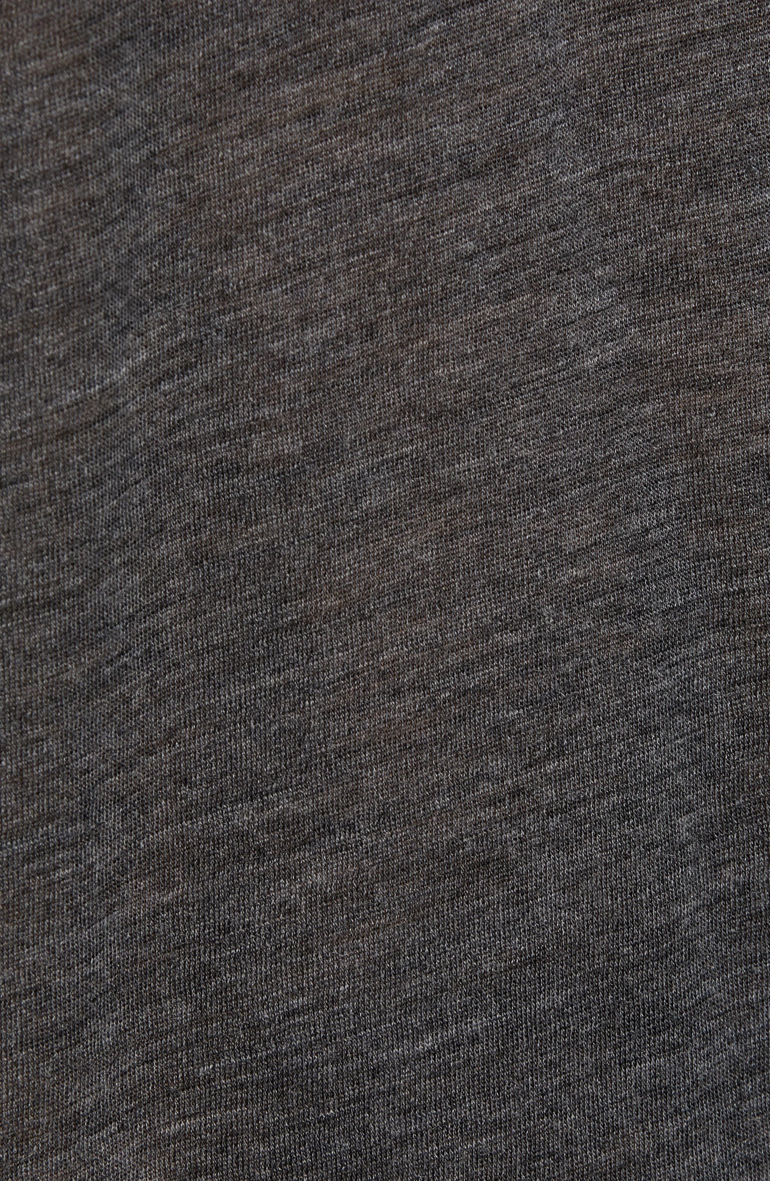 Skull Head Wool Henley T-Shirt,                             Alternate thumbnail 5, color,                             020