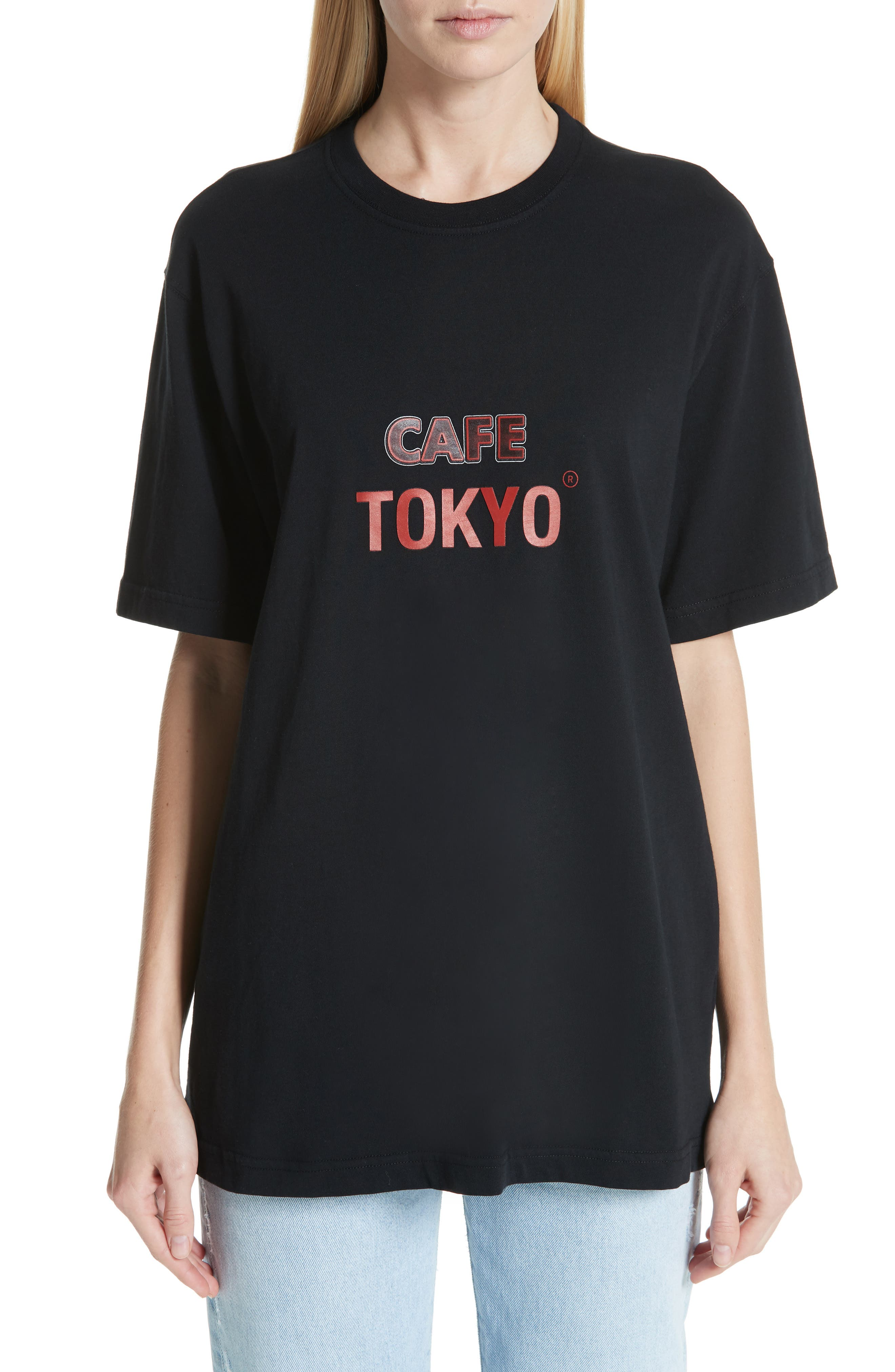 Tokyo Reykjavik Tee,                             Main thumbnail 1, color,                             BLACK