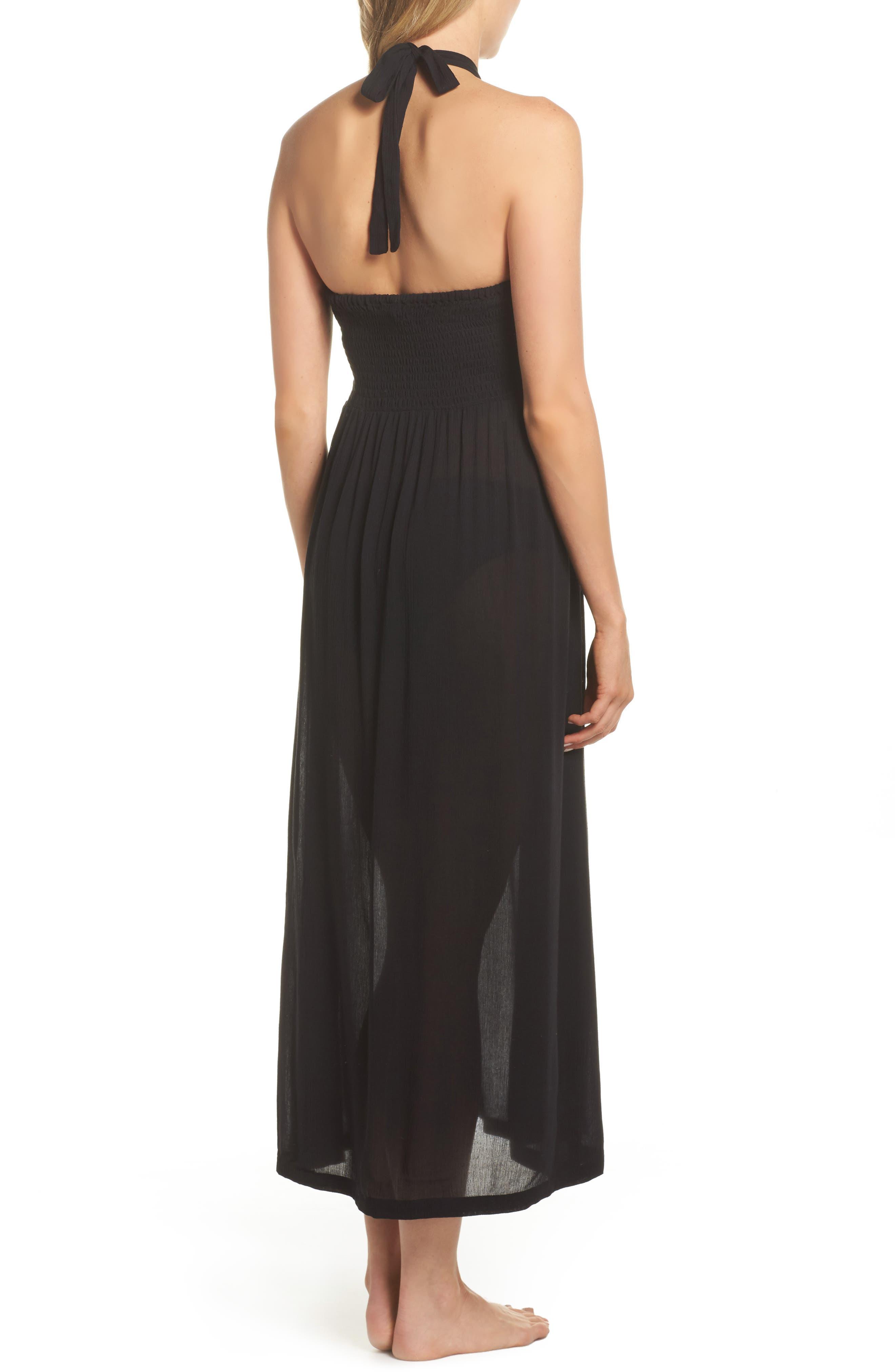 Midi Tie Back Cover-Up Dress,                             Alternate thumbnail 2, color,                             001