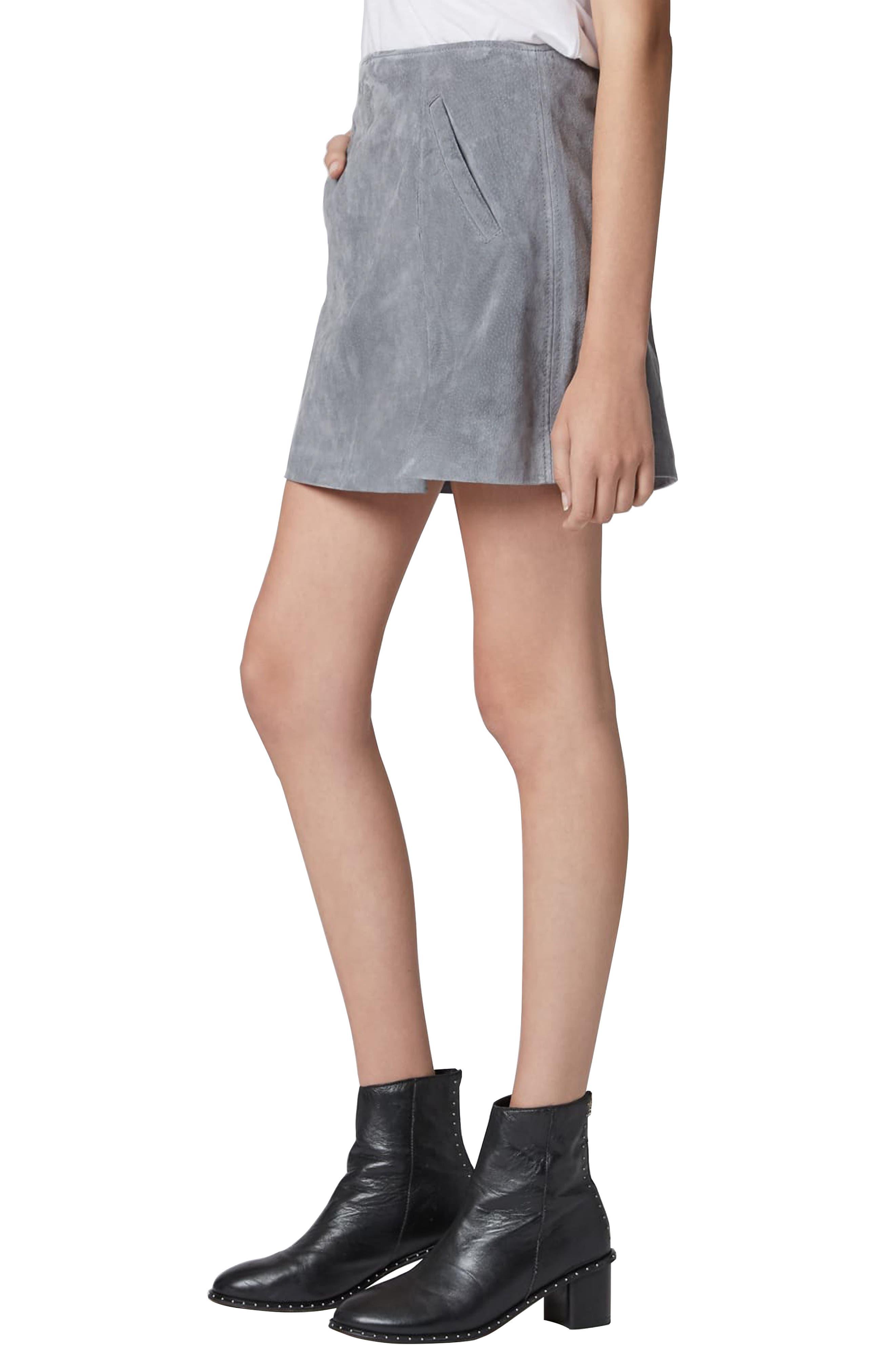 Suede Miniskirt,                             Alternate thumbnail 16, color,