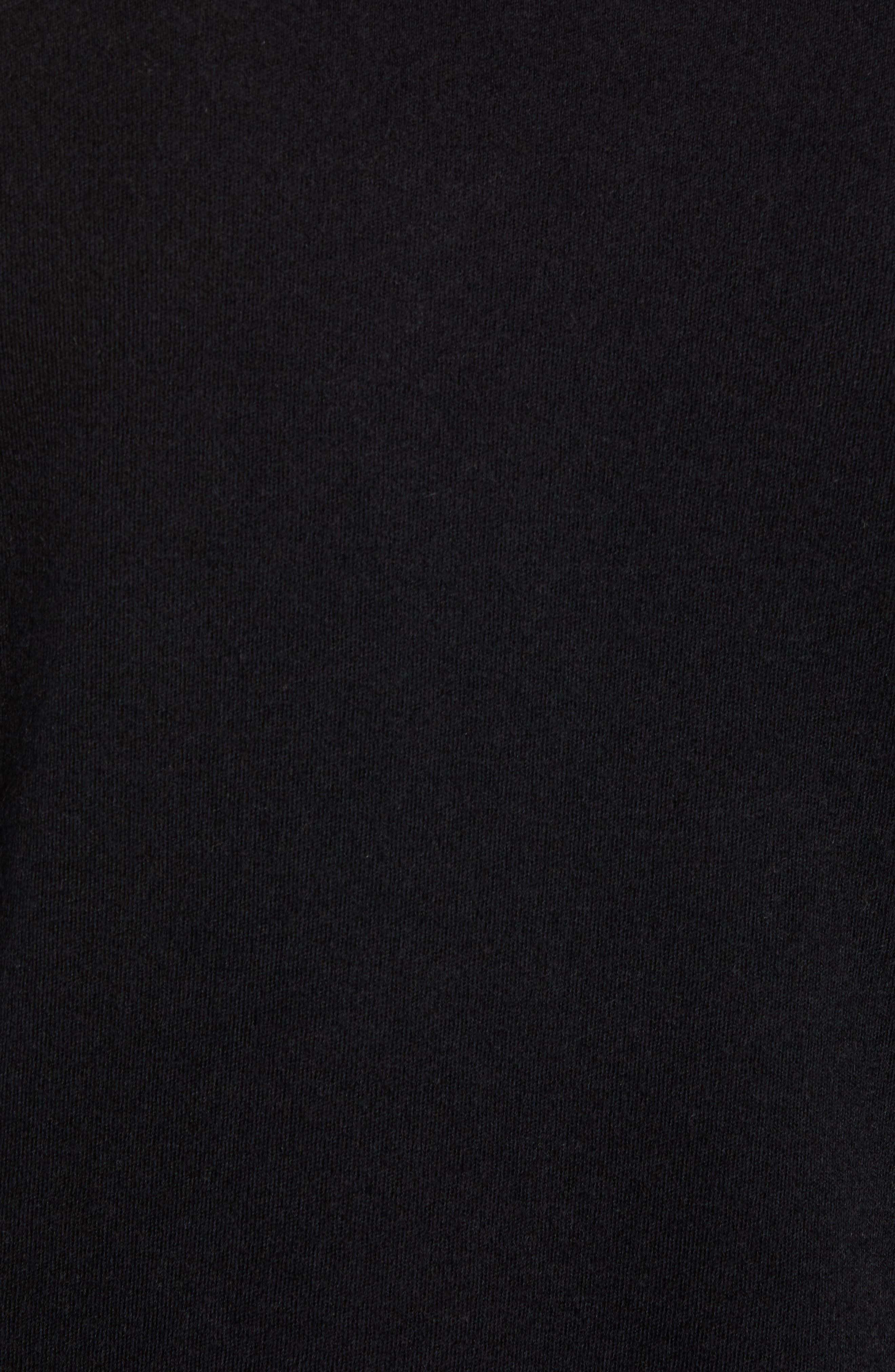 Crewneck Cashmere Sweater,                             Alternate thumbnail 5, color,                             BLACK CAVIAR