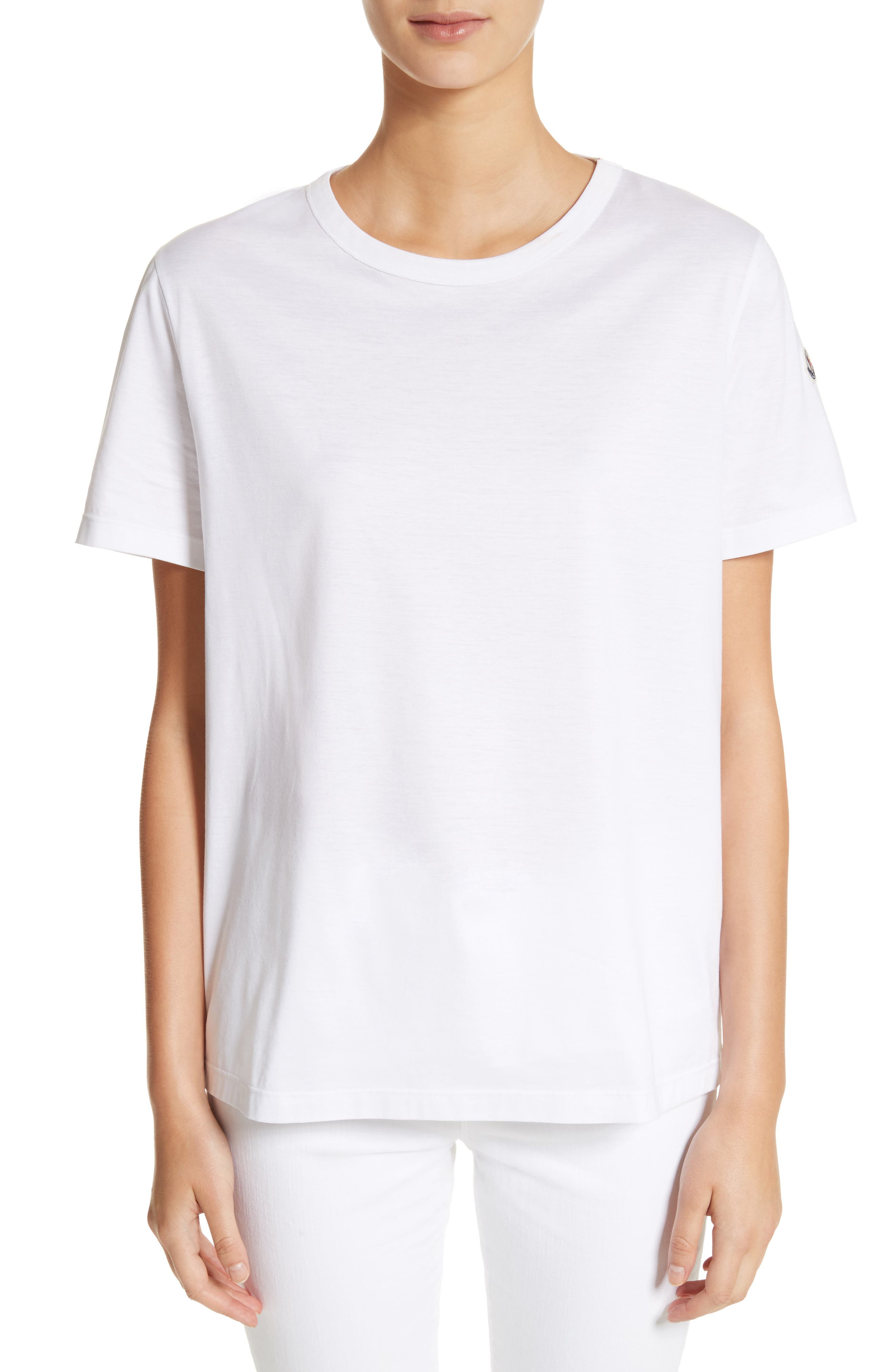 Cotton Tee,                         Main,                         color, WHITE