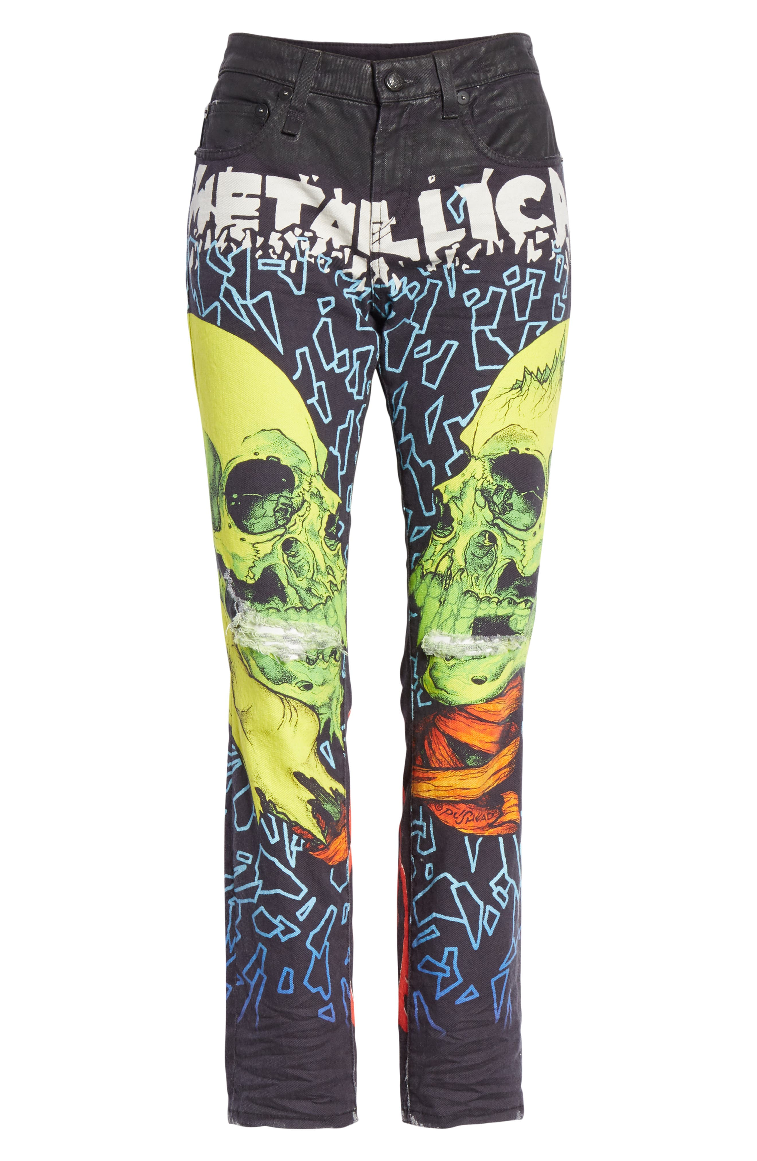 R13,                             Kate Print Skinny Jeans,                             Alternate thumbnail 6, color,                             001