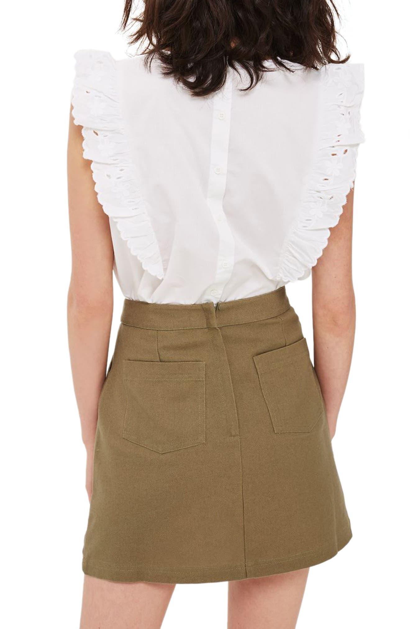 Garden Embroidered Miniskirt,                             Alternate thumbnail 4, color,