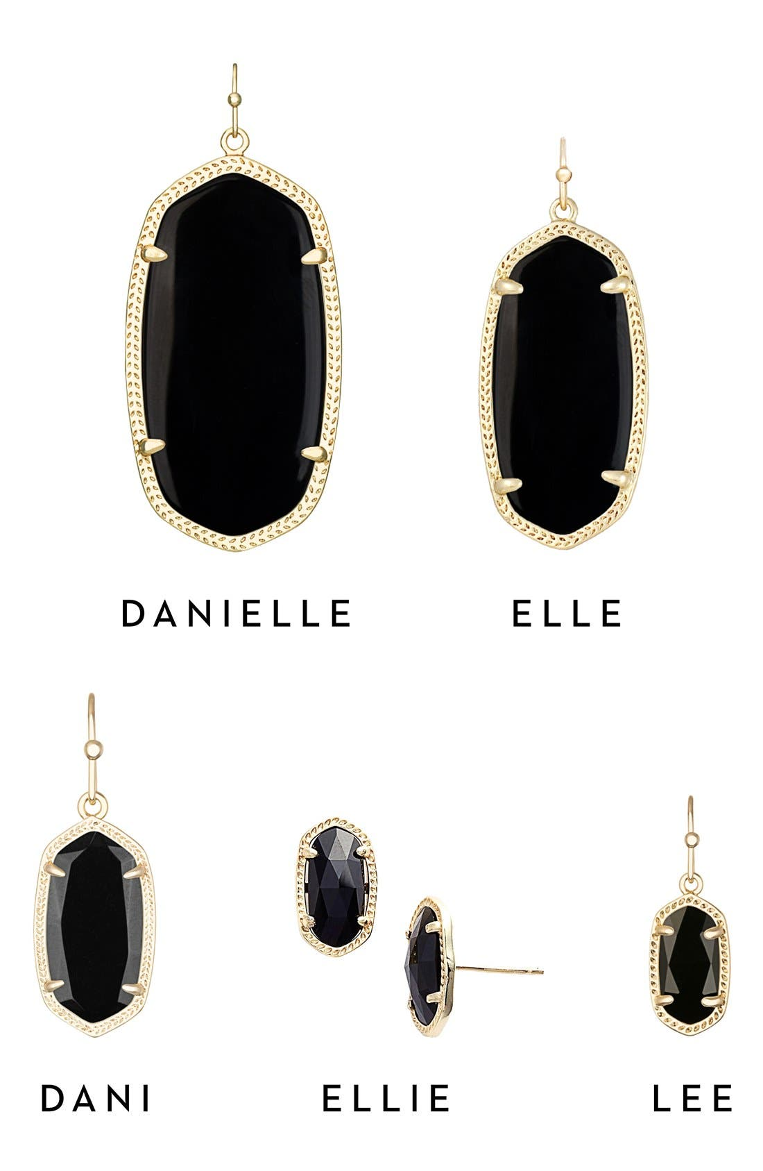 Danielle - Large Oval Statement Earrings,                             Alternate thumbnail 7, color,                             001