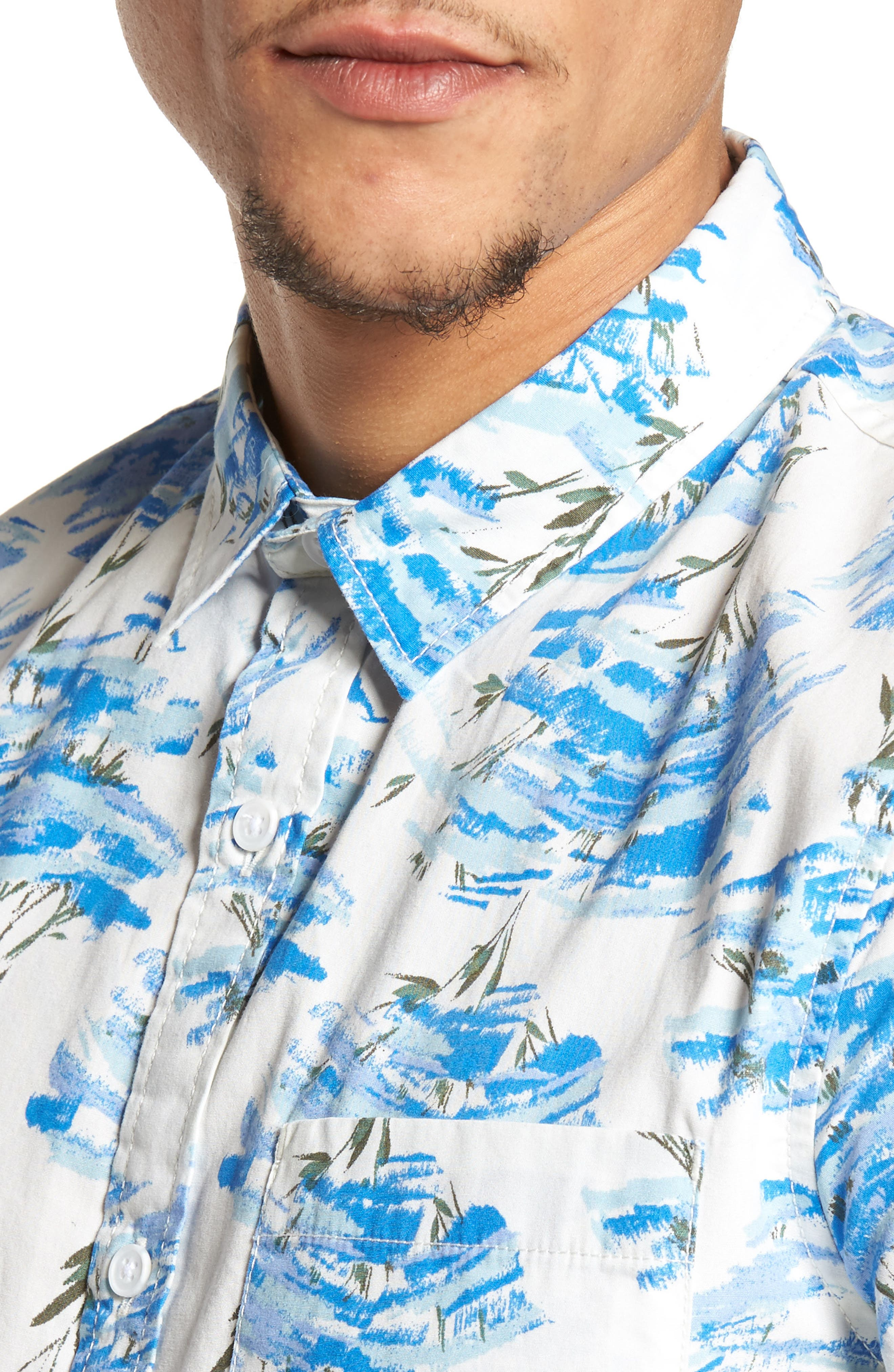 Short Sleeve Print Poplin Shirt,                             Alternate thumbnail 20, color,