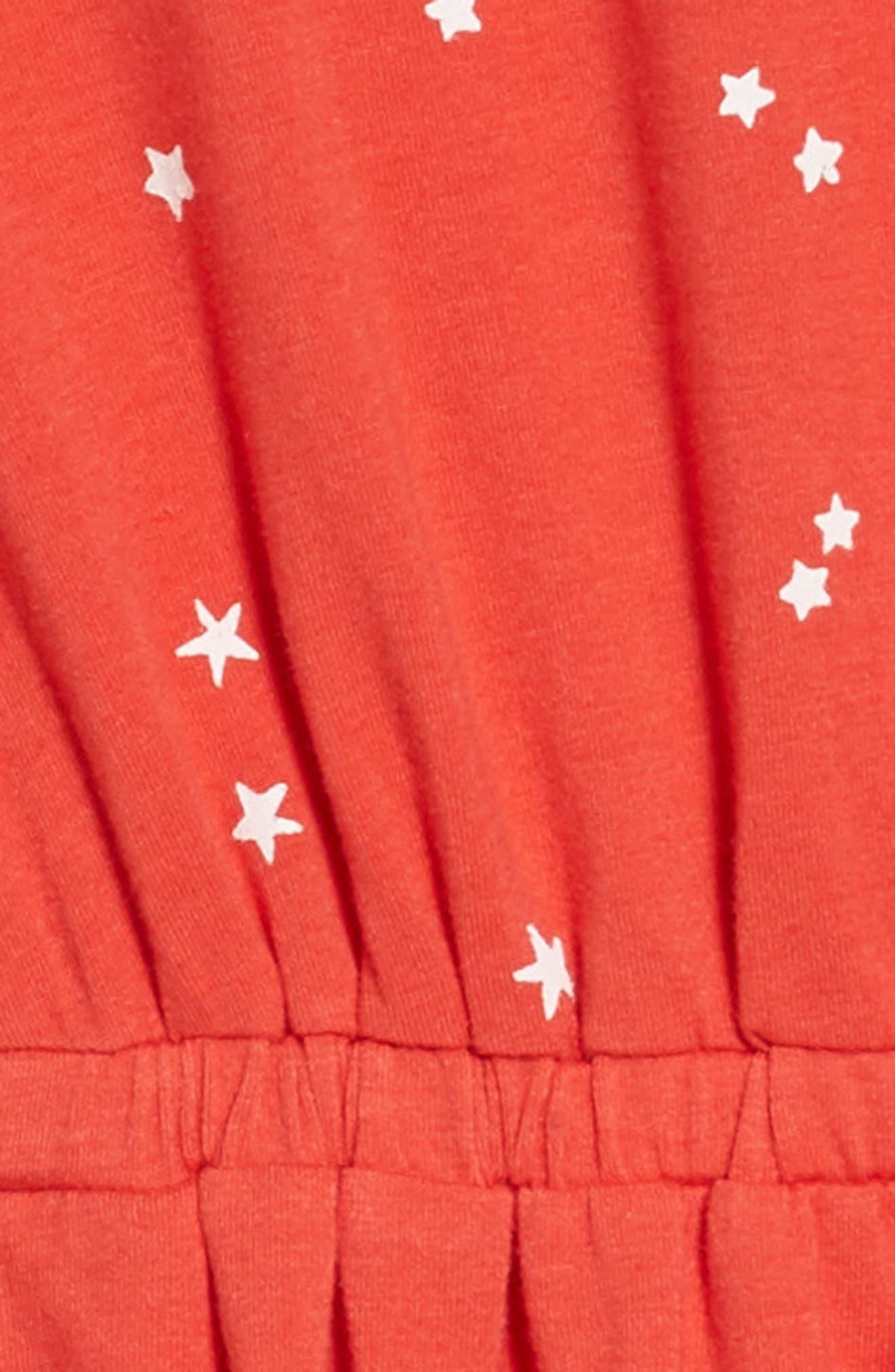 Print Skater Dress,                             Alternate thumbnail 3, color,                             610